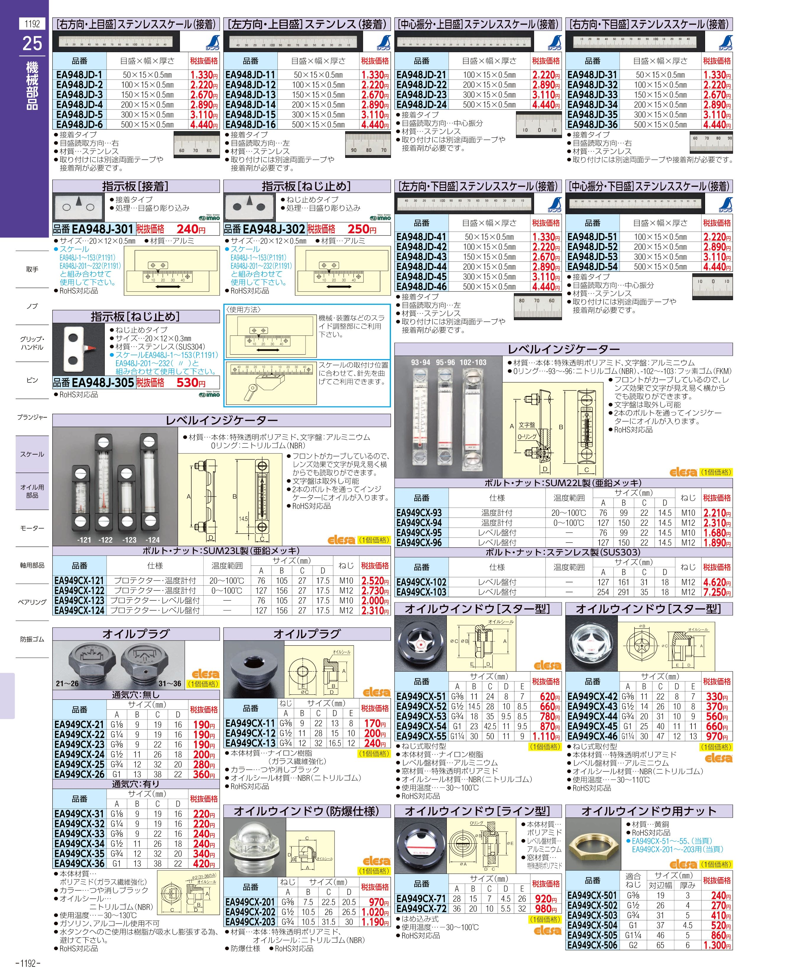 エスコ便利カタログ1192ページ