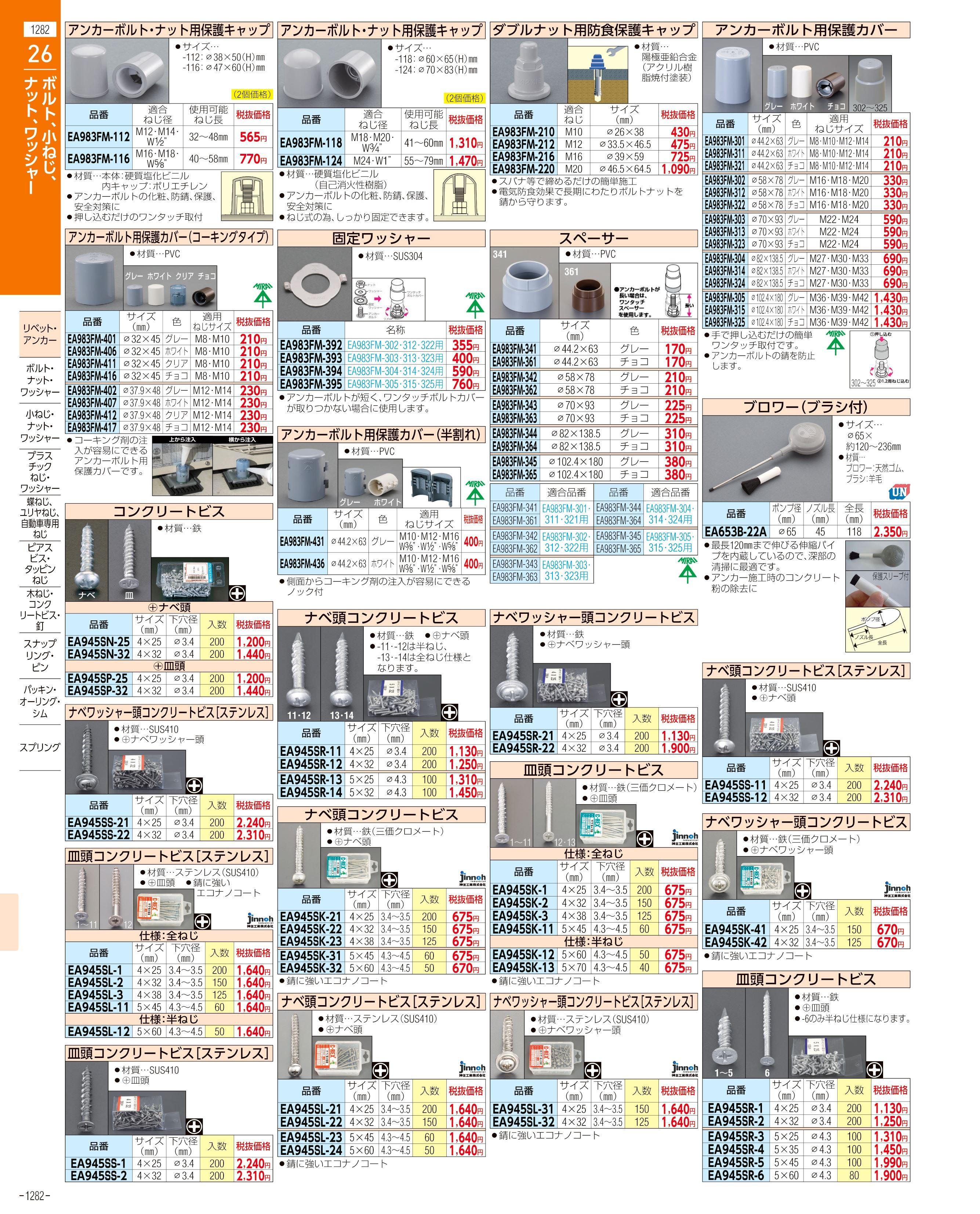 エスコ便利カタログ1282ページ