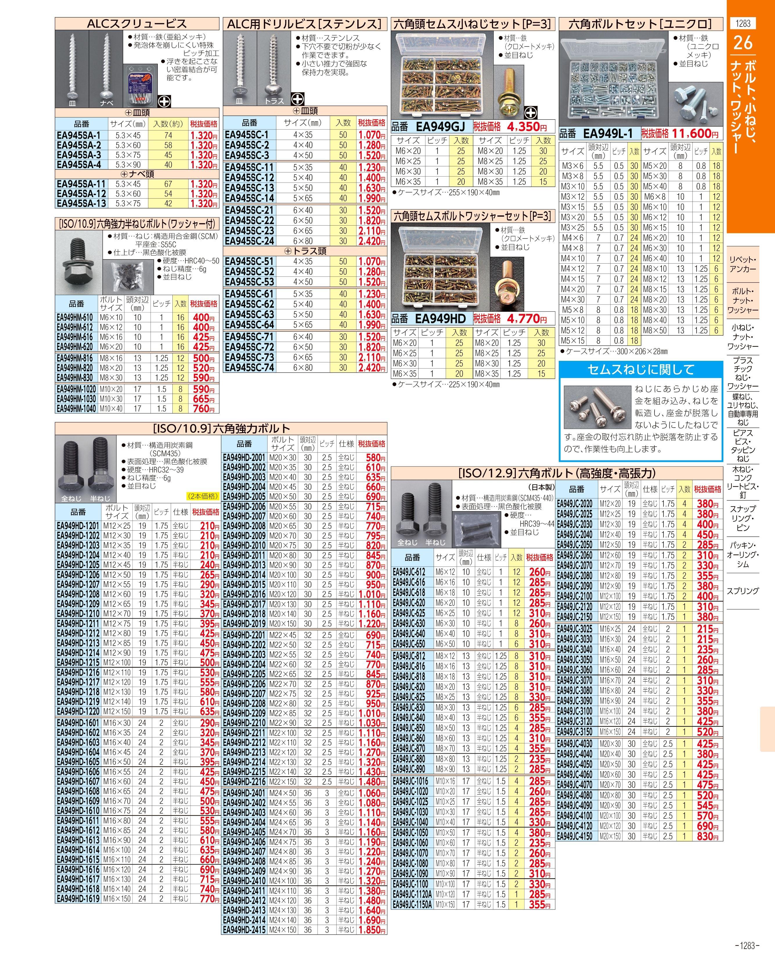 エスコ便利カタログ1283ページ