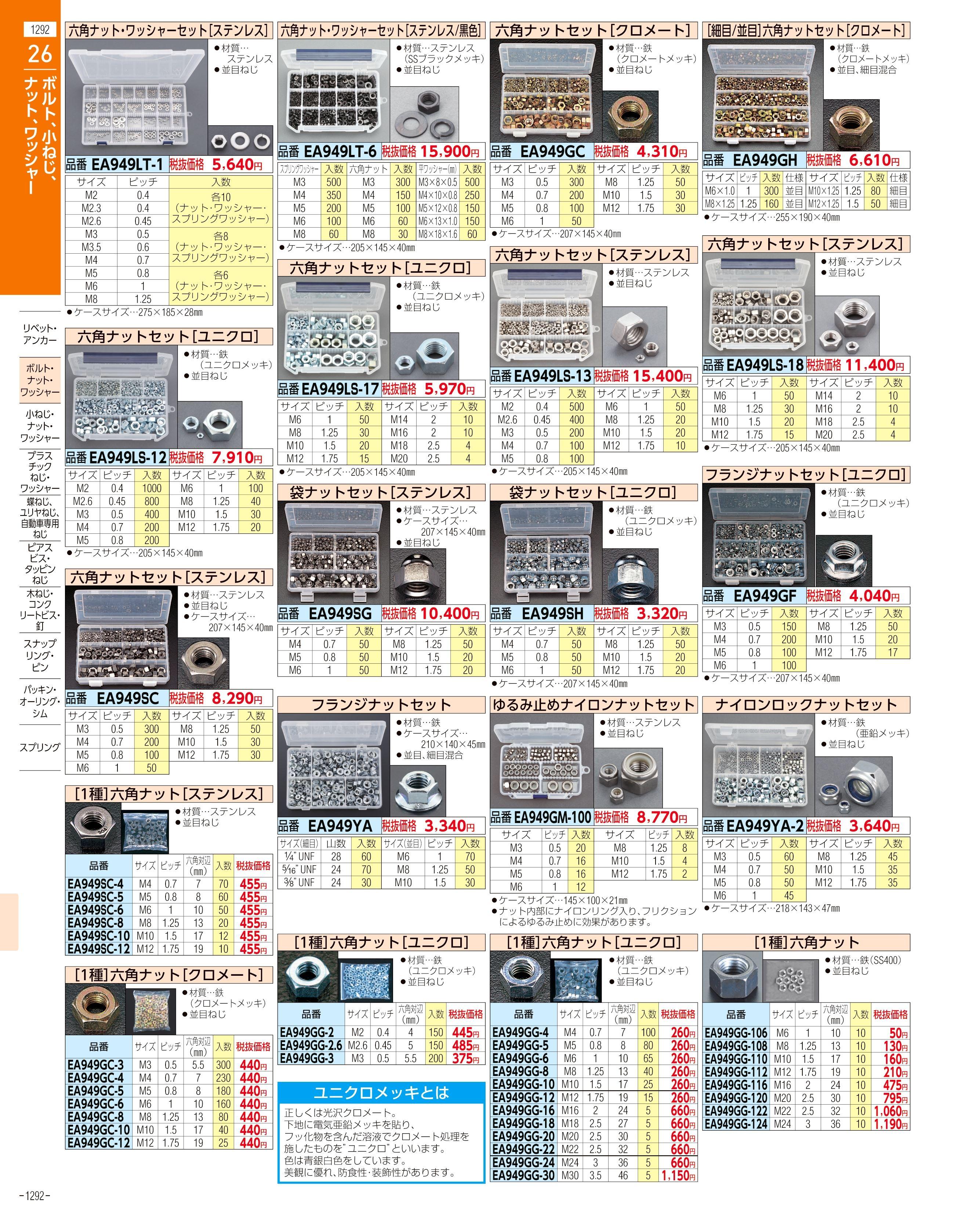 エスコ便利カタログ1292ページ