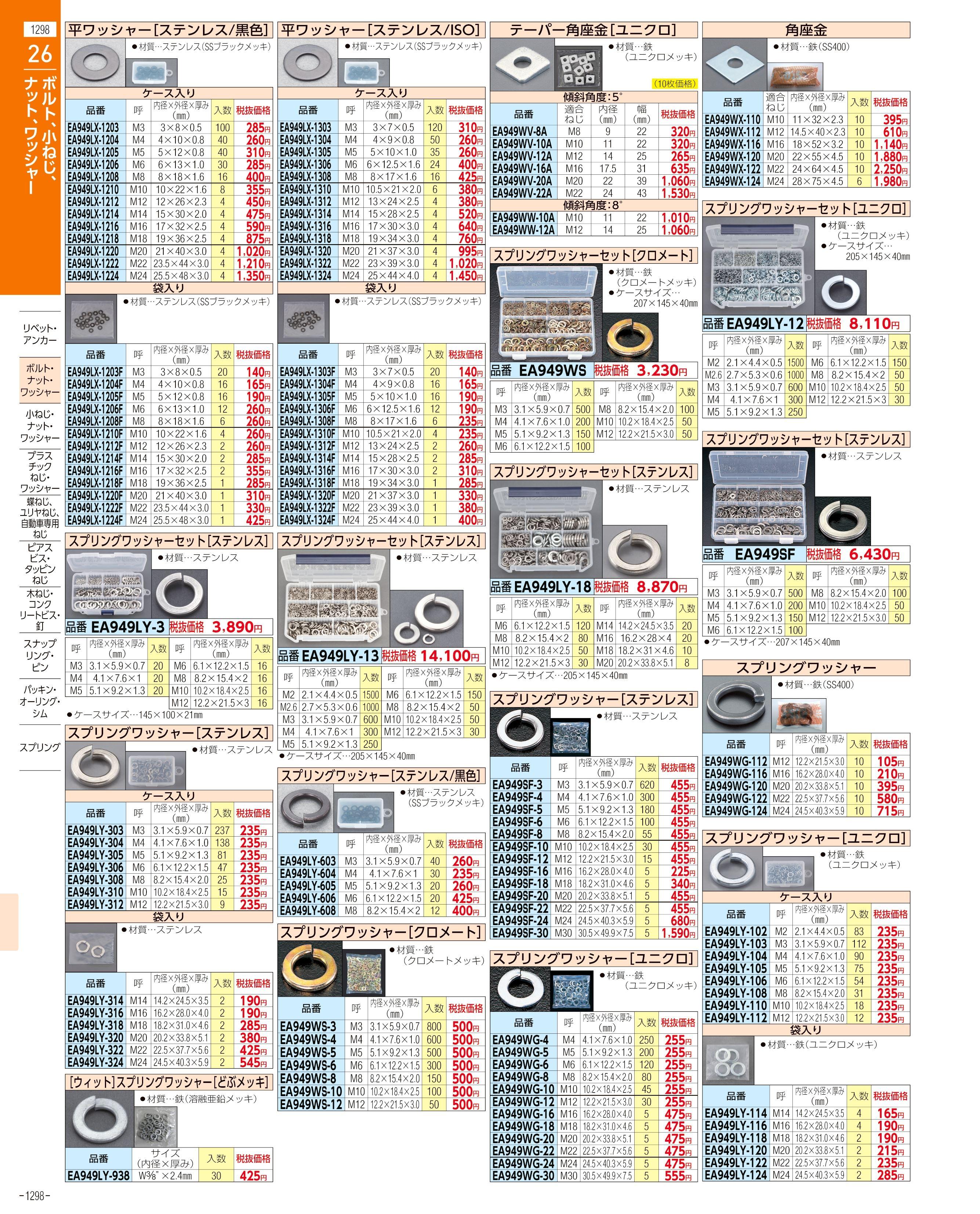 エスコ便利カタログ1298ページ