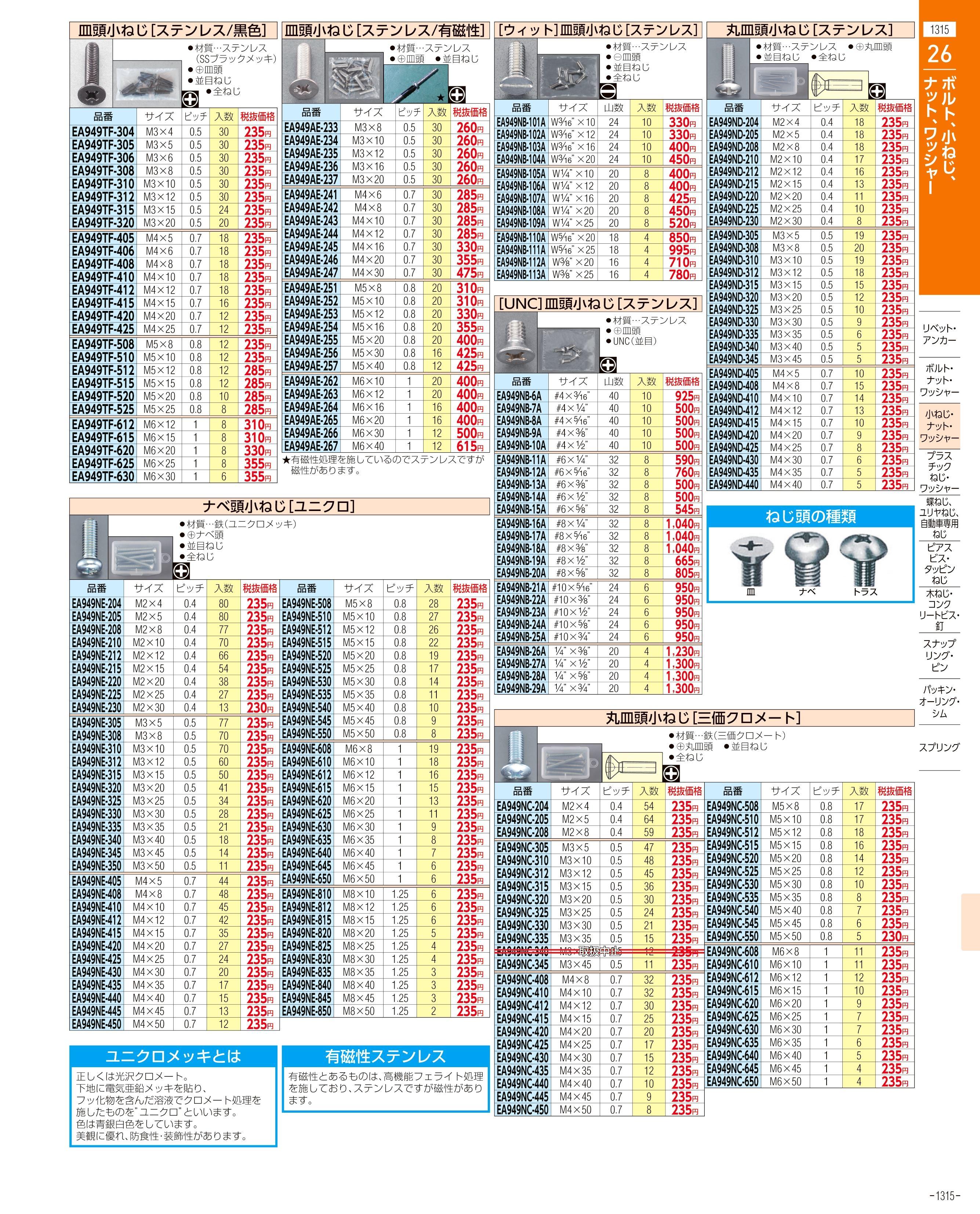 エスコ便利カタログ1315ページ