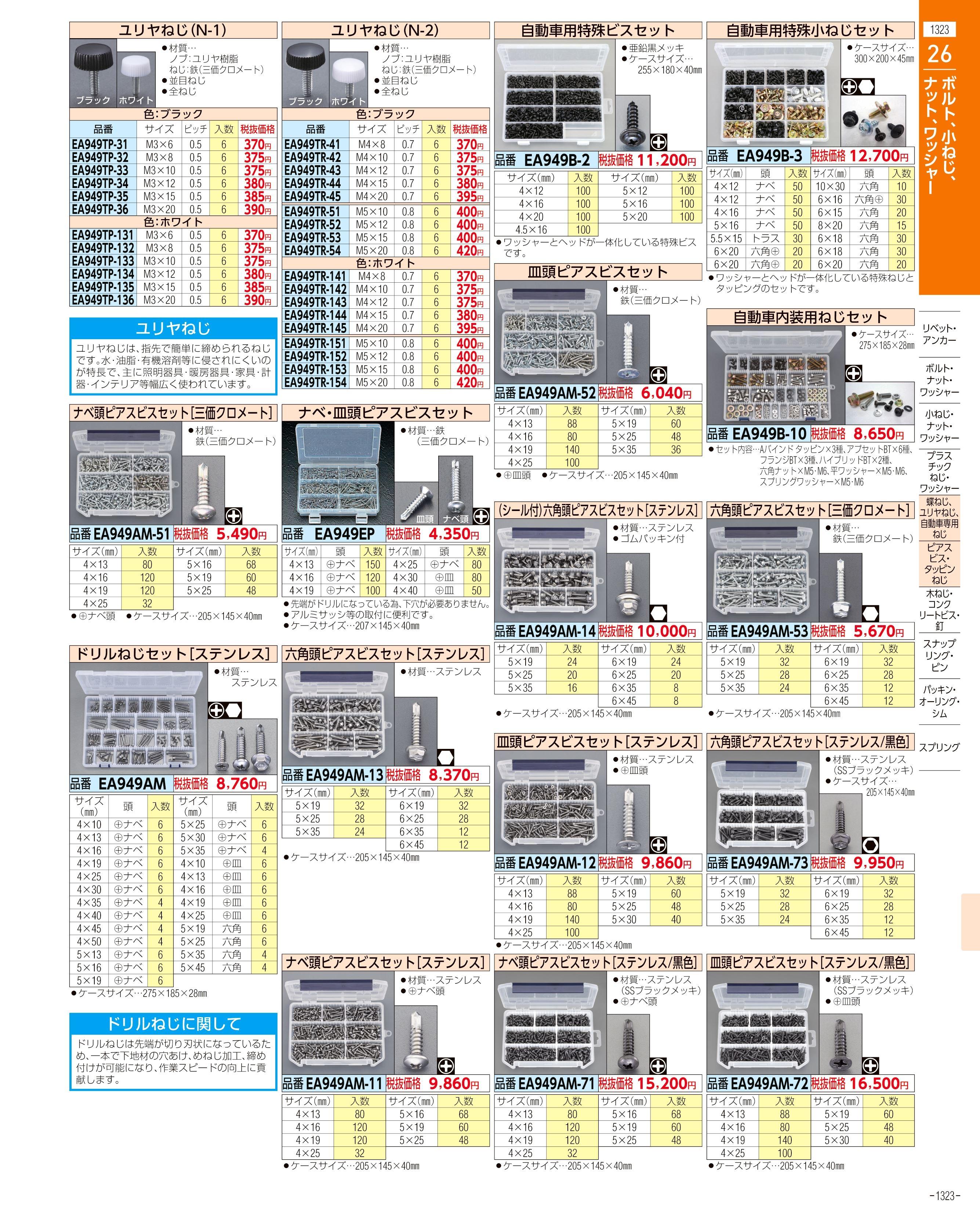 エスコ便利カタログ1323ページ