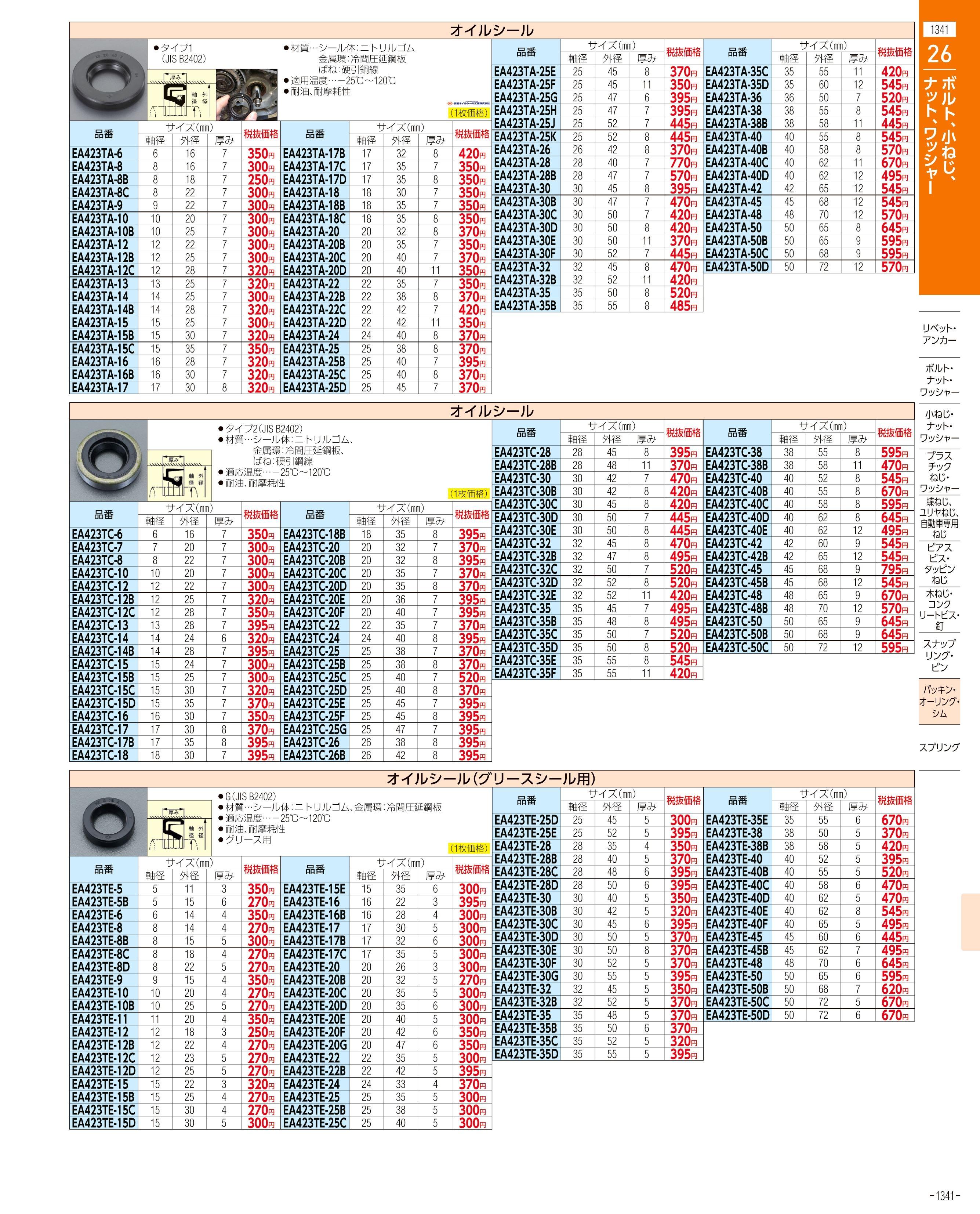 エスコ便利カタログ1341ページ