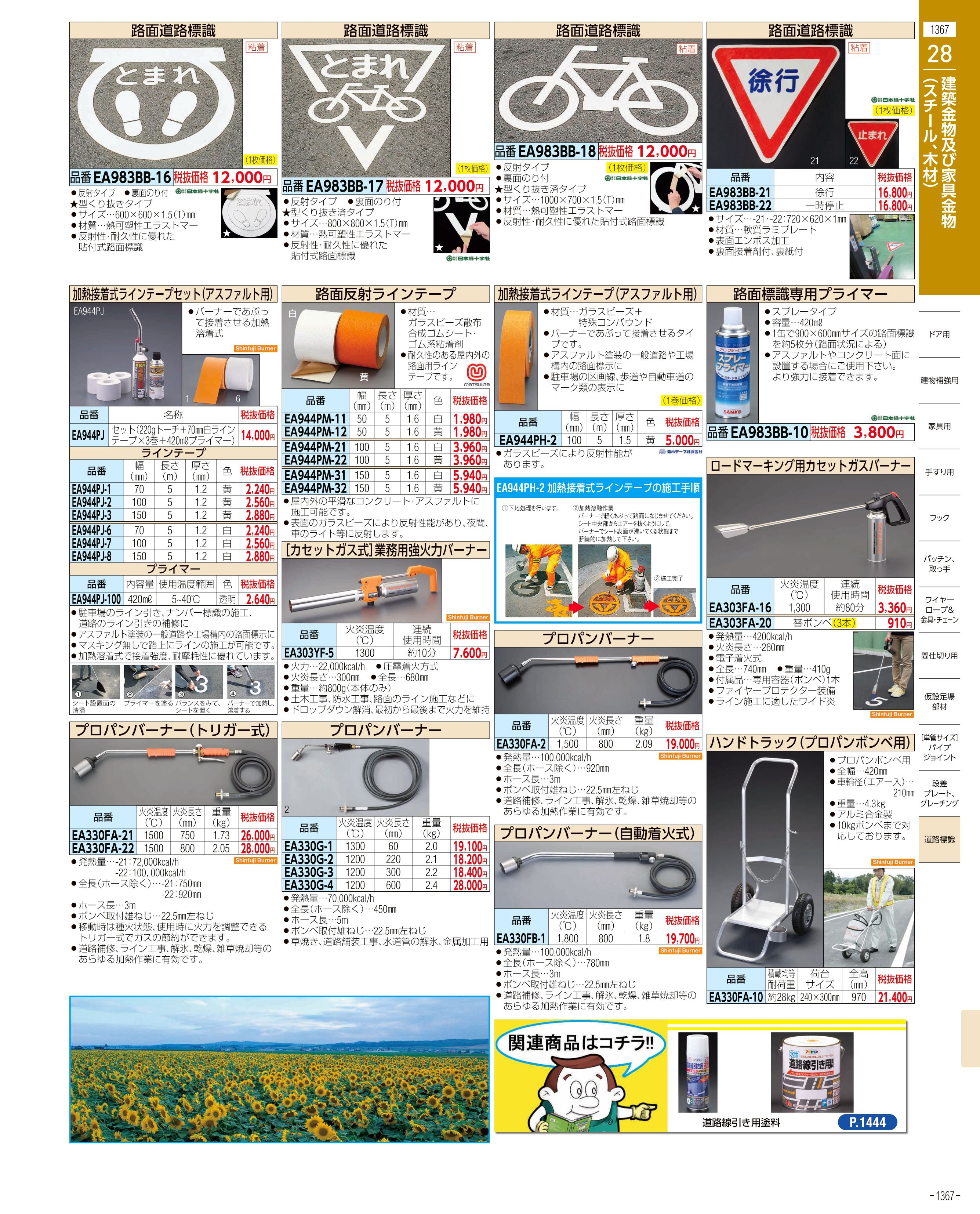 エスコ便利カタログ1367ページ