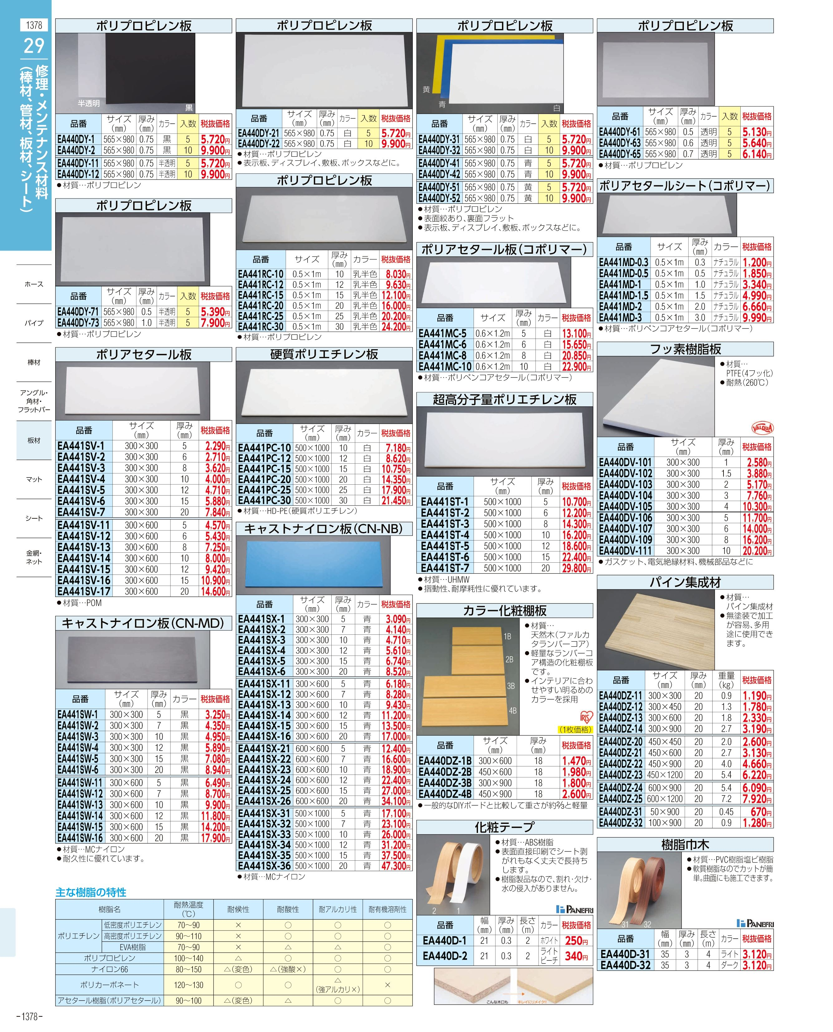 エスコ便利カタログ1378ページ
