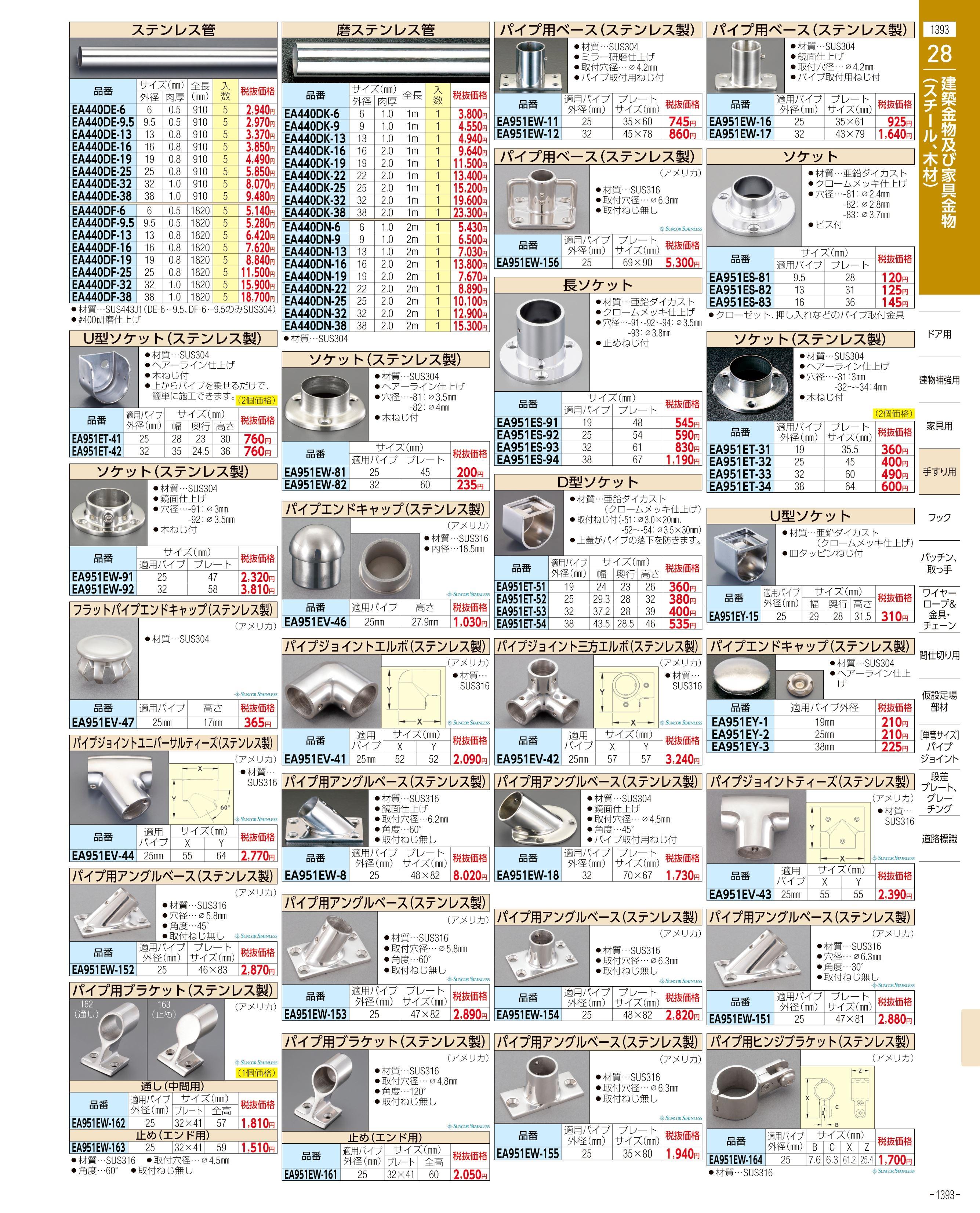 エスコ便利カタログ1393ページ