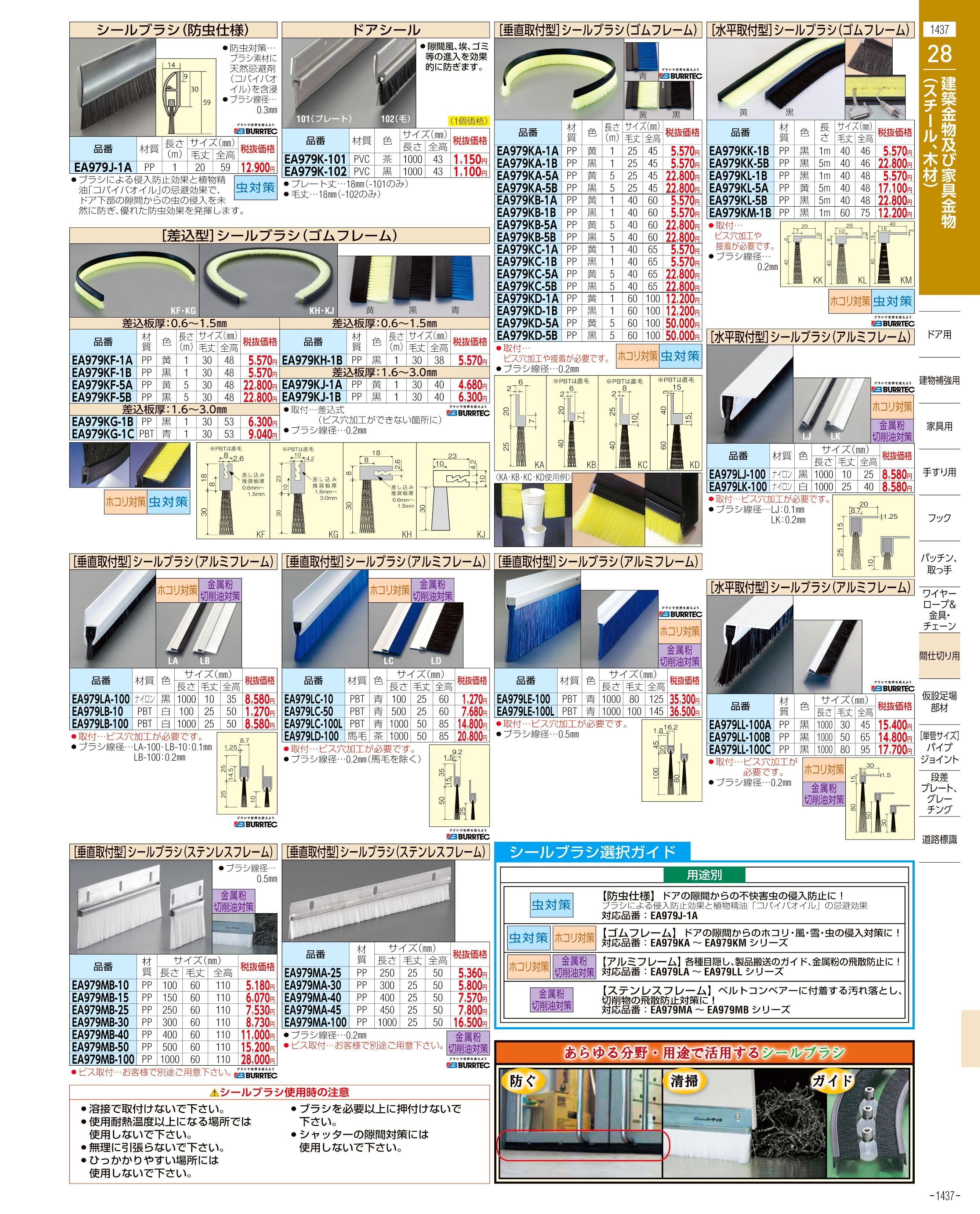 エスコ便利カタログ1437ページ