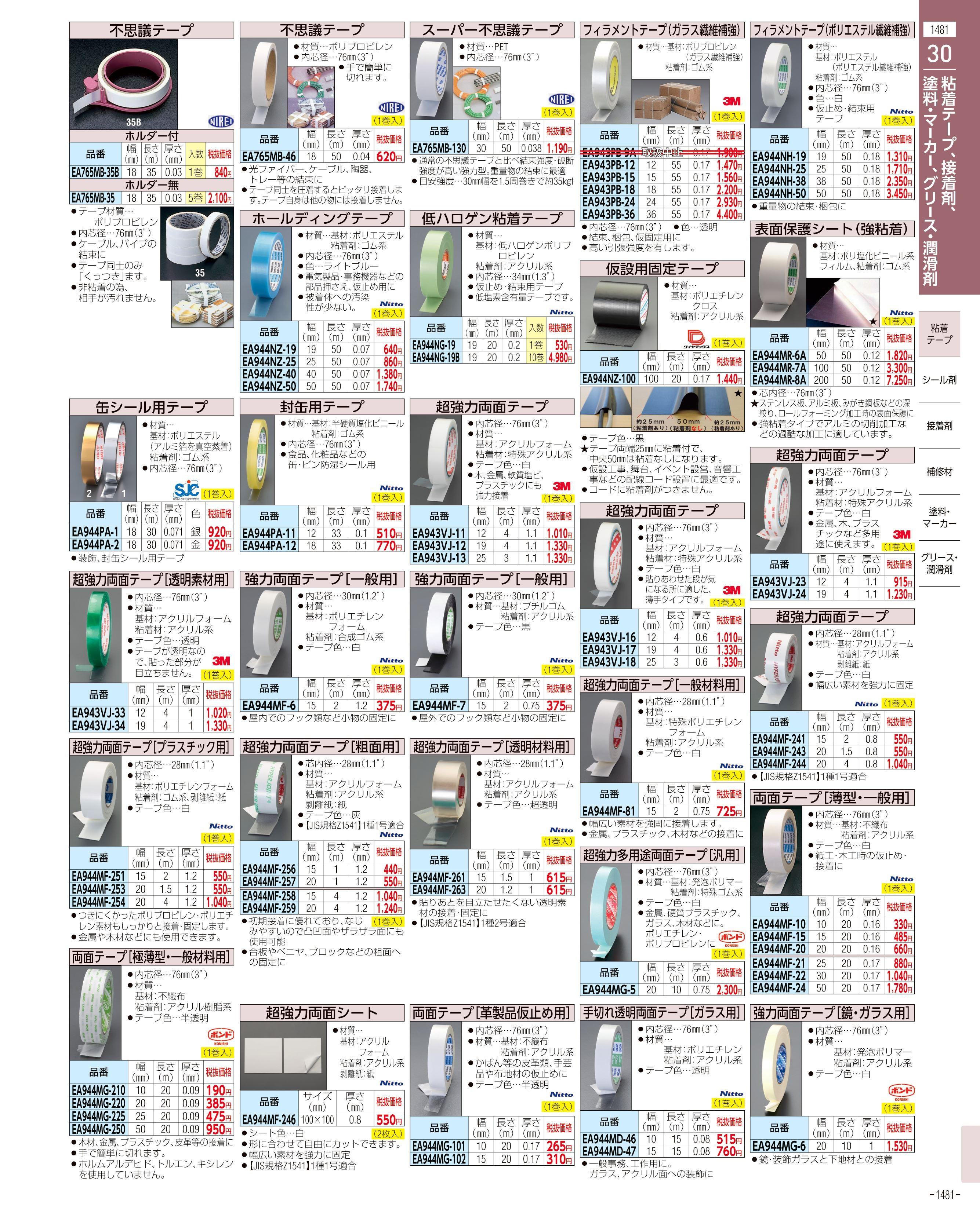 エスコ便利カタログ1481ページ
