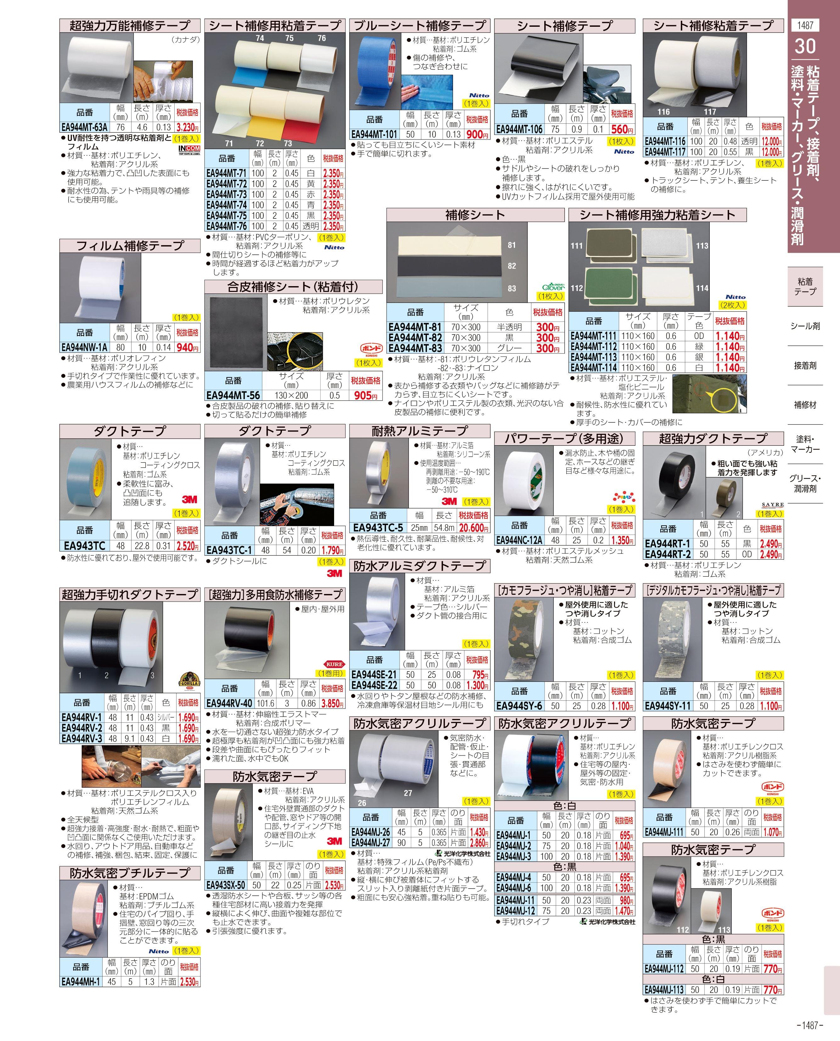 エスコ便利カタログ1487ページ
