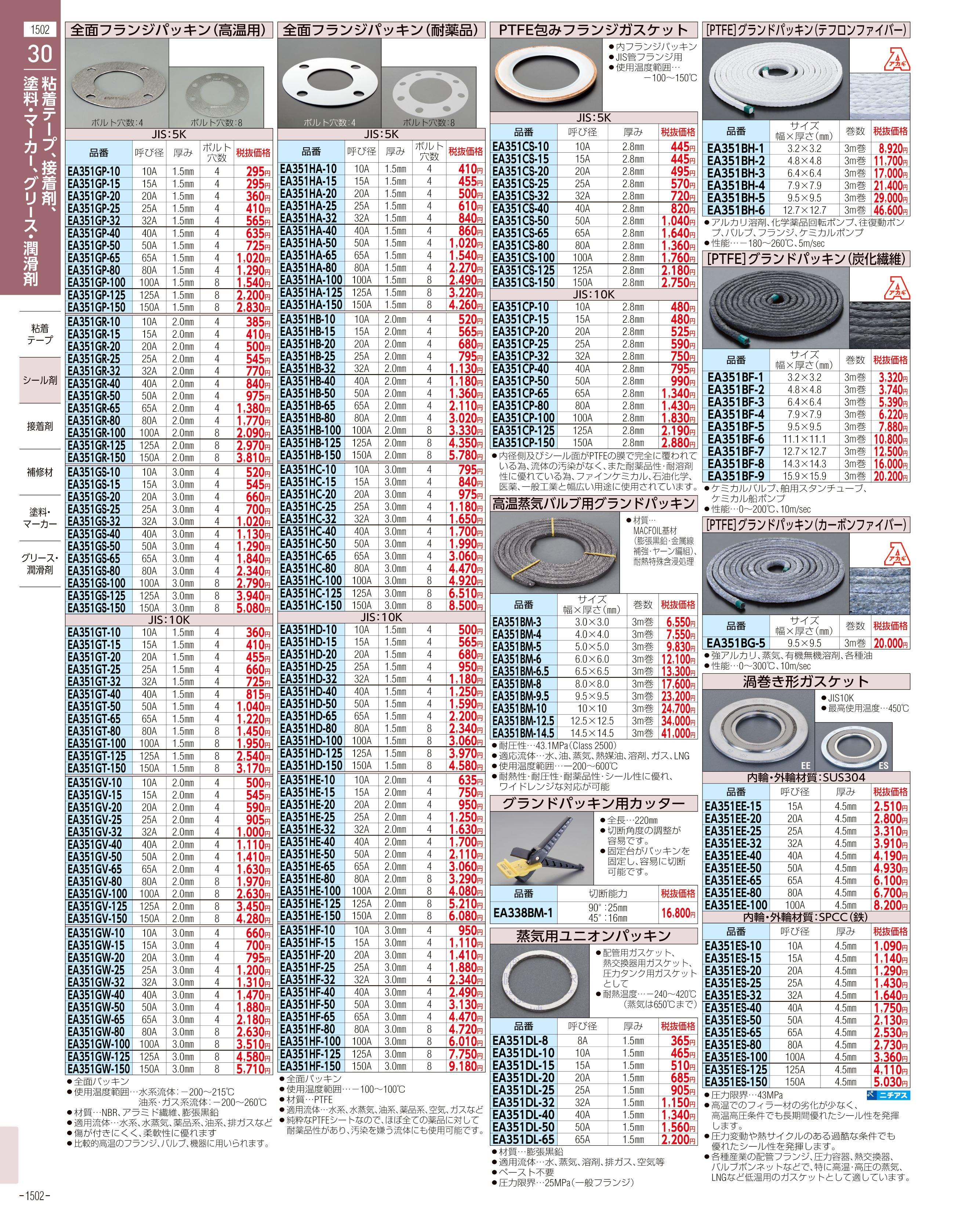 エスコ便利カタログ1502ページ