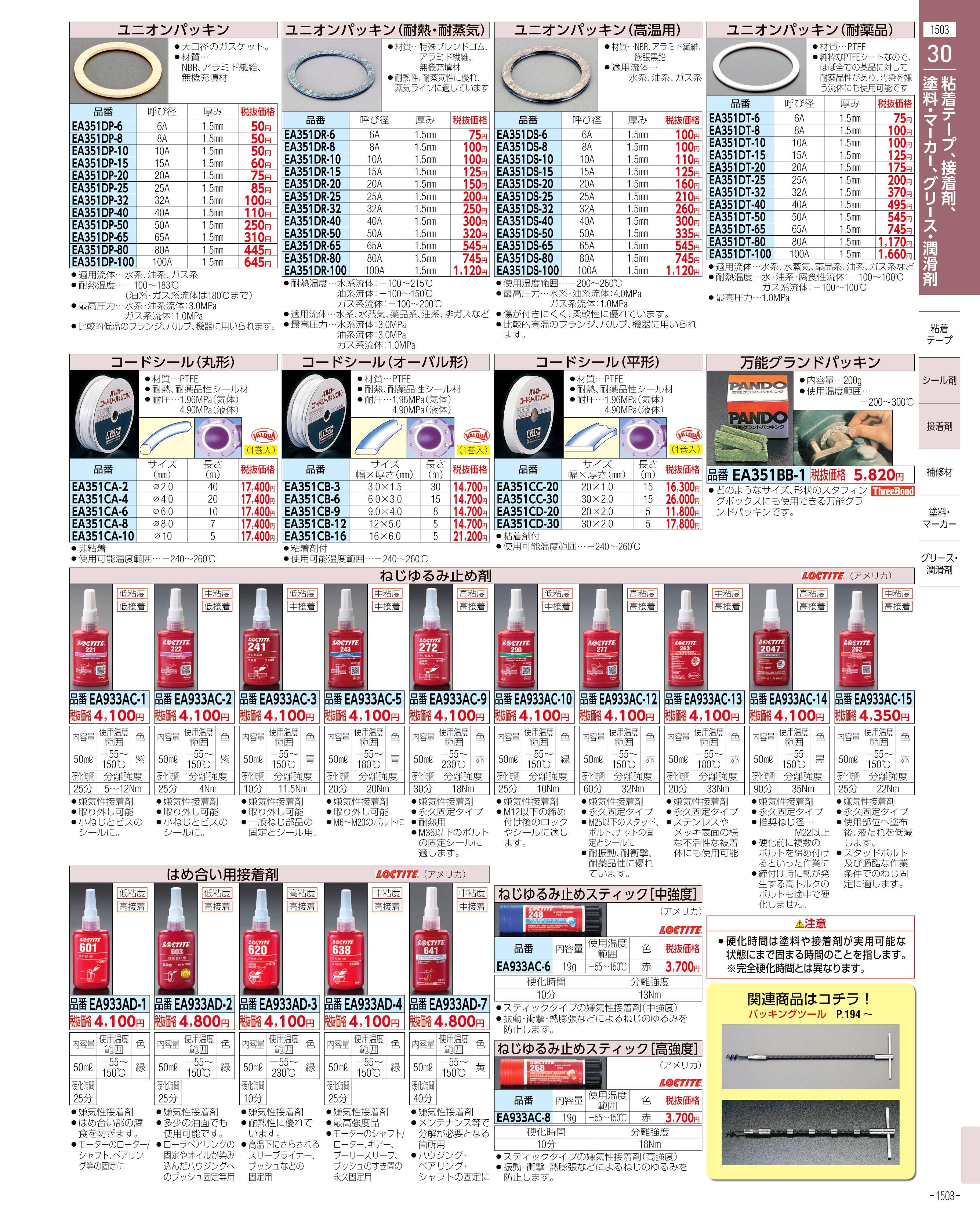 エスコ便利カタログ1503ページ