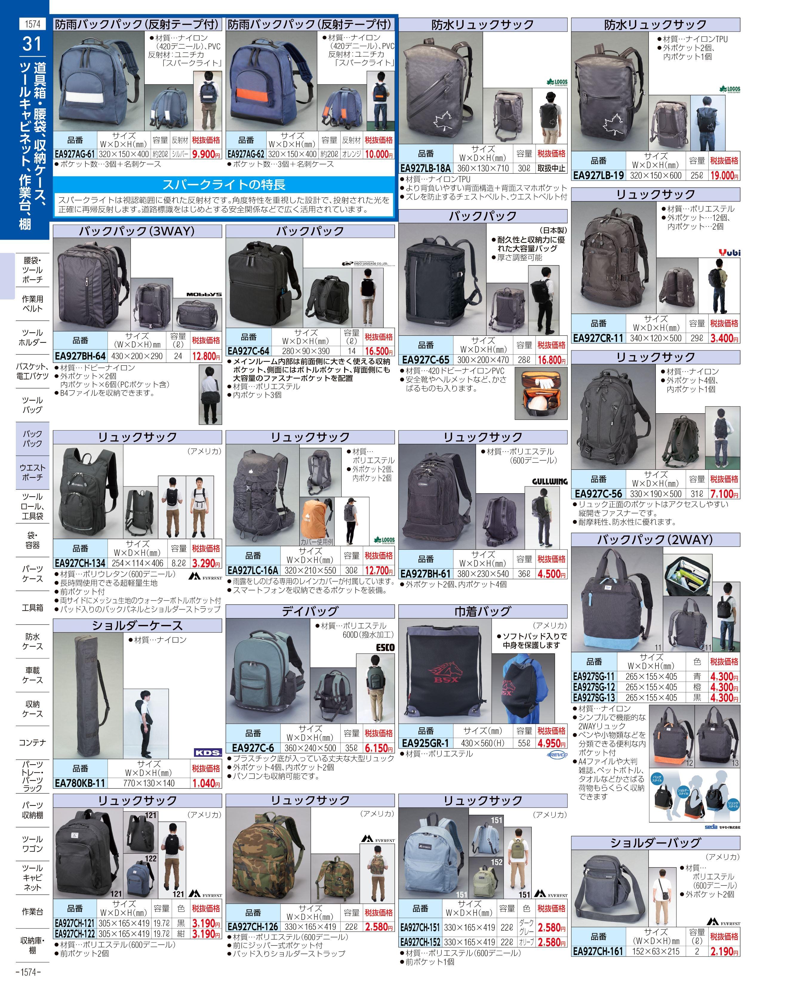 エスコ便利カタログ1574ページ