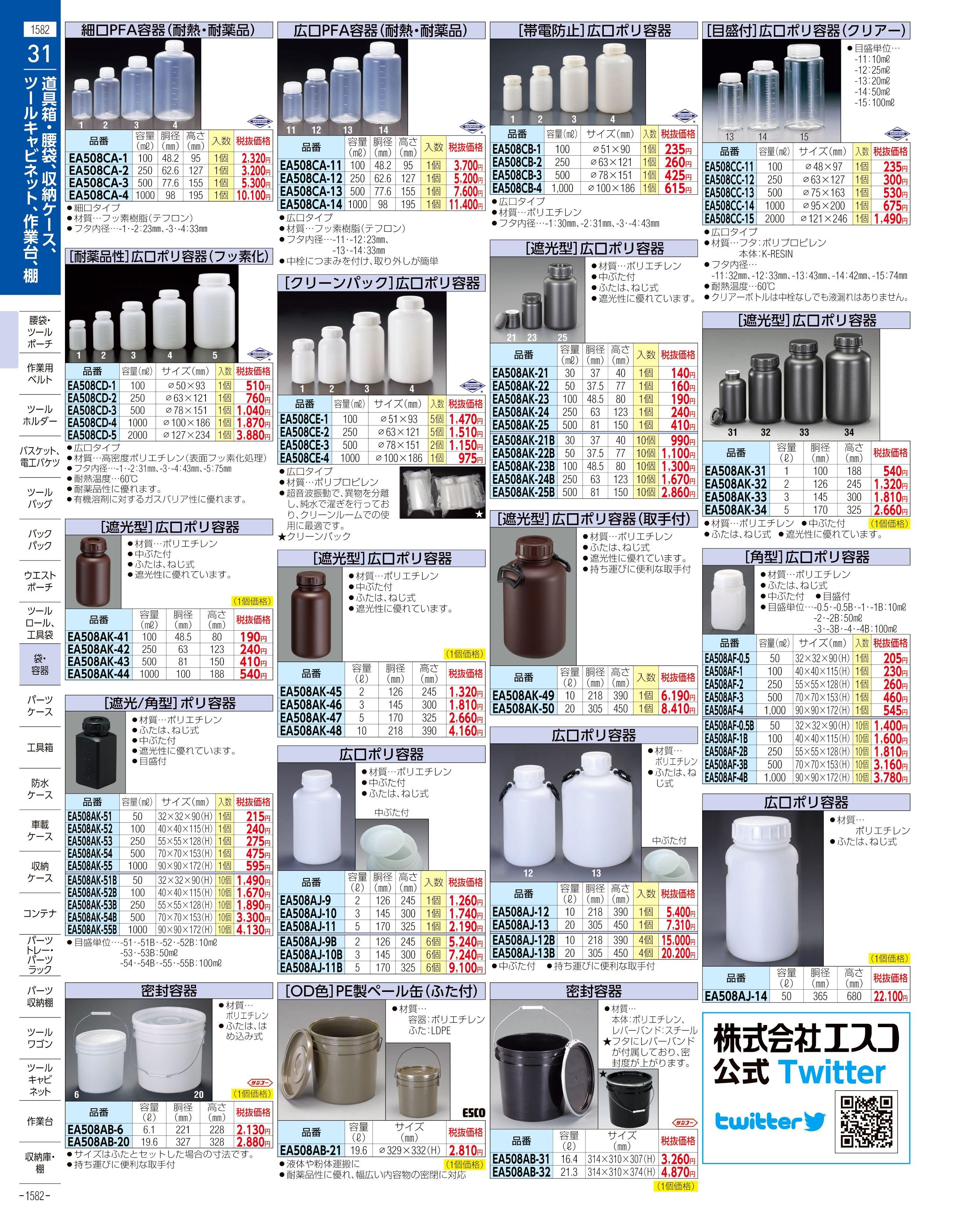 エスコ便利カタログ1582ページ