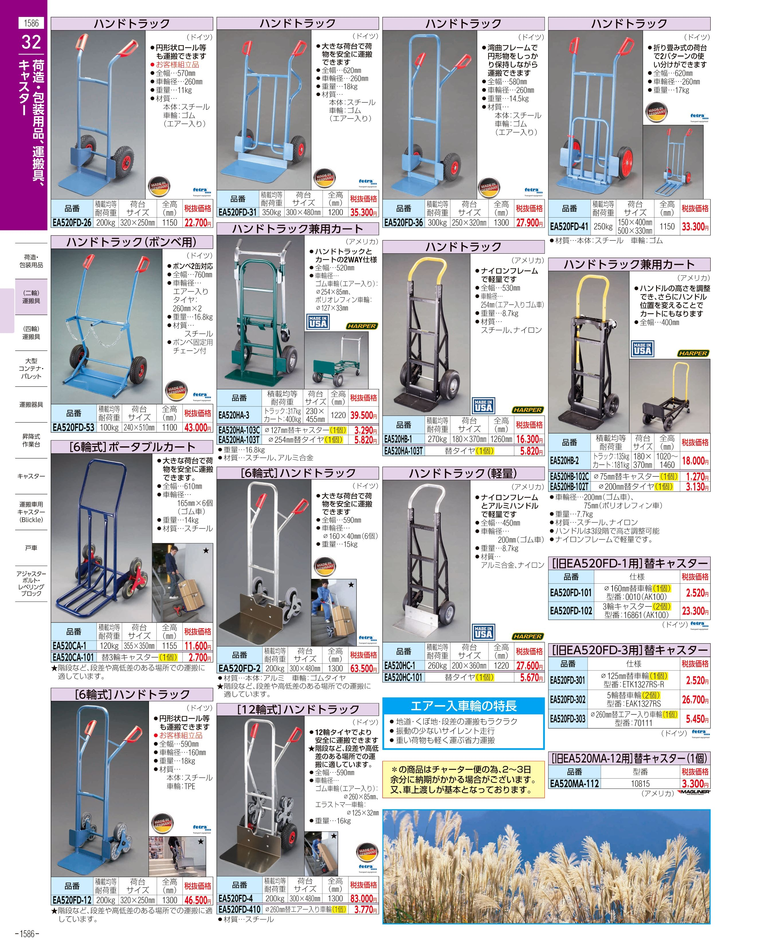 エスコ便利カタログ1586ページ
