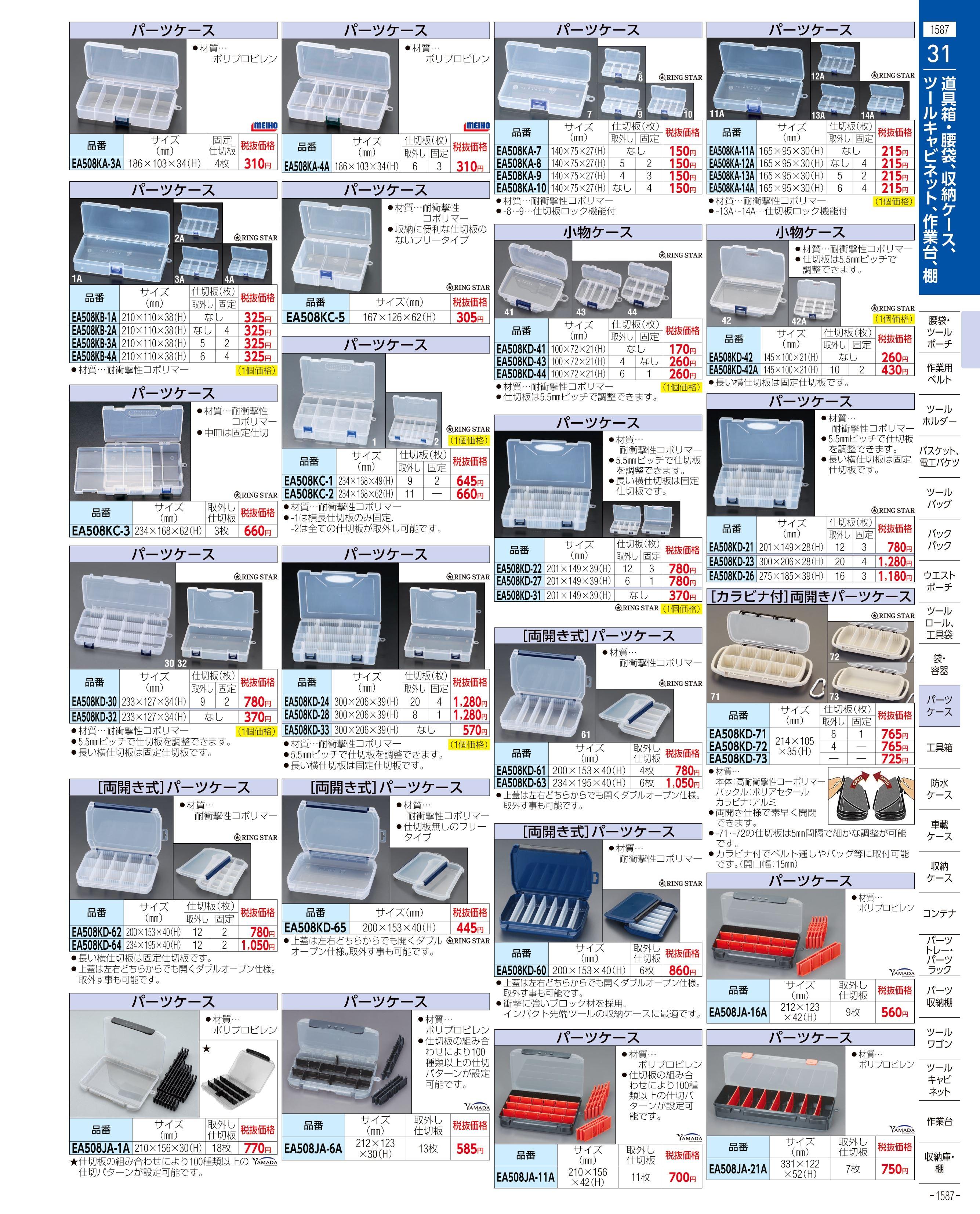 エスコ便利カタログ1587ページ