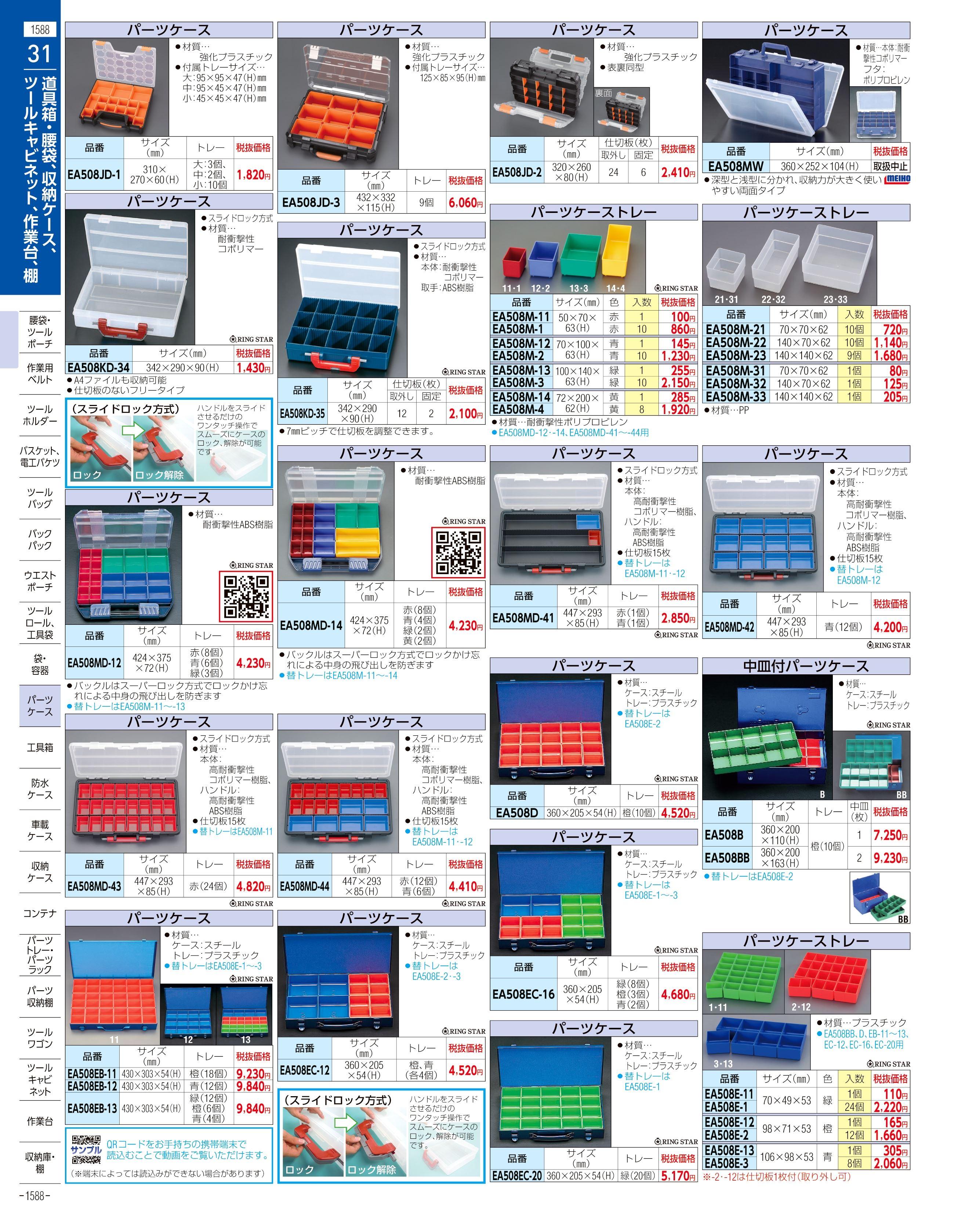 エスコ便利カタログ1588ページ