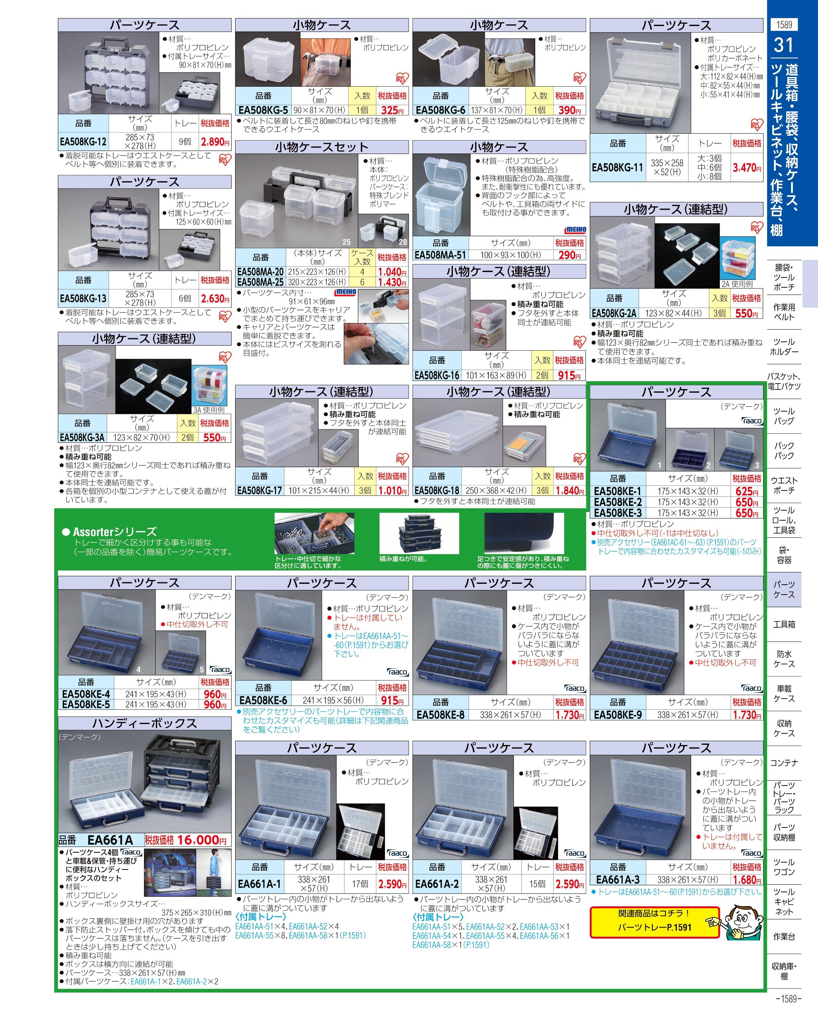 エスコ便利カタログ1589ページ