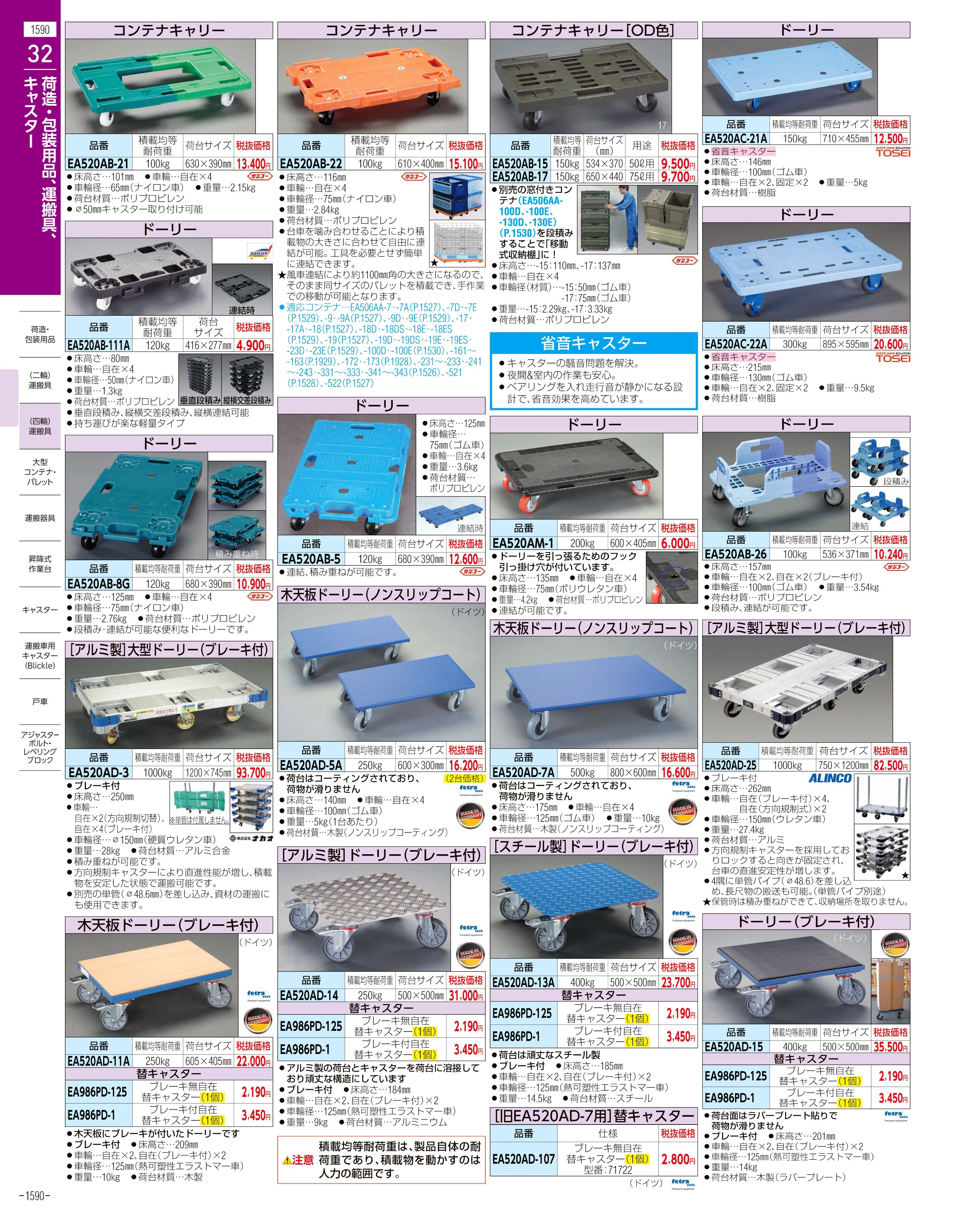 エスコ便利カタログ1590ページ