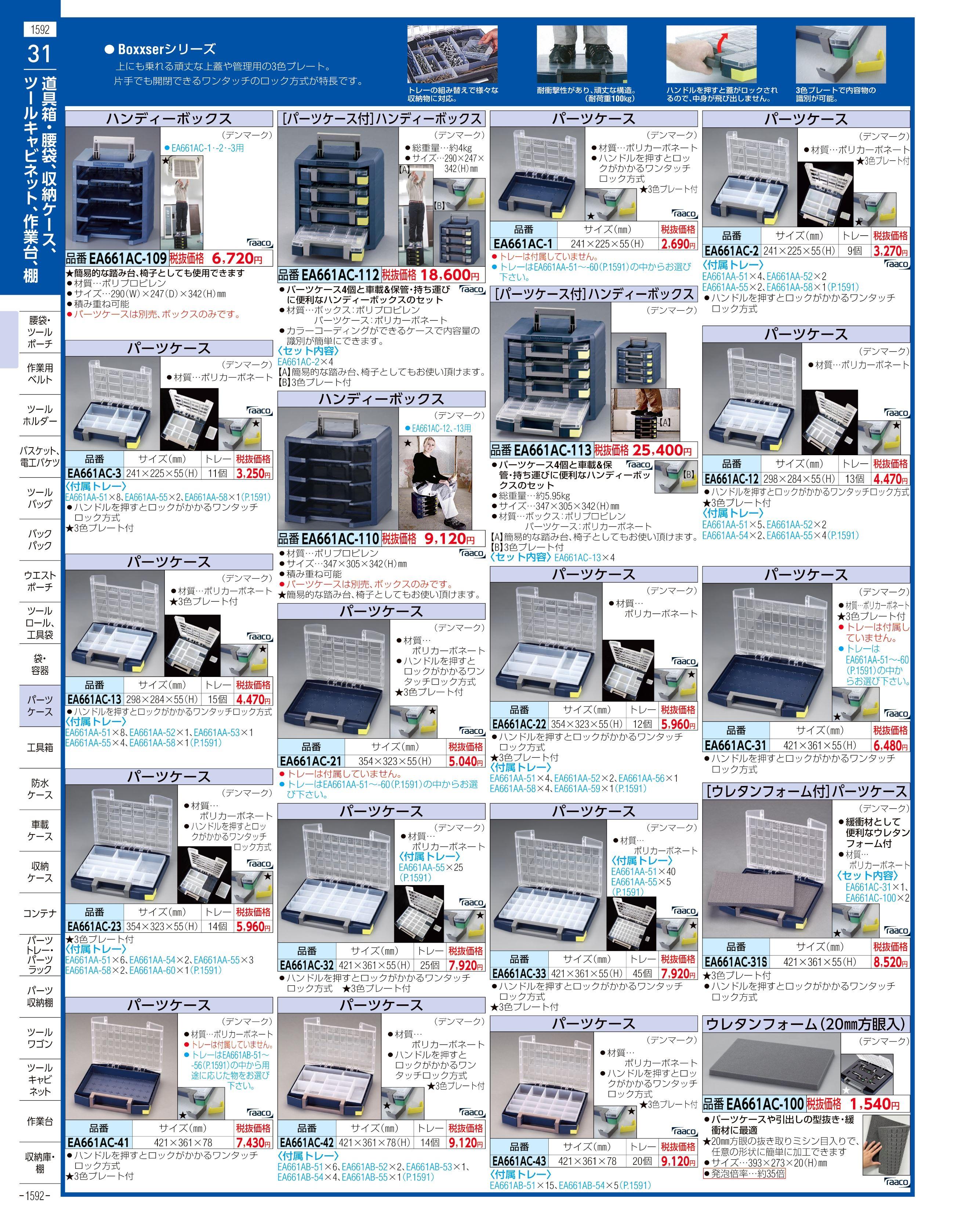 エスコ便利カタログ1592ページ