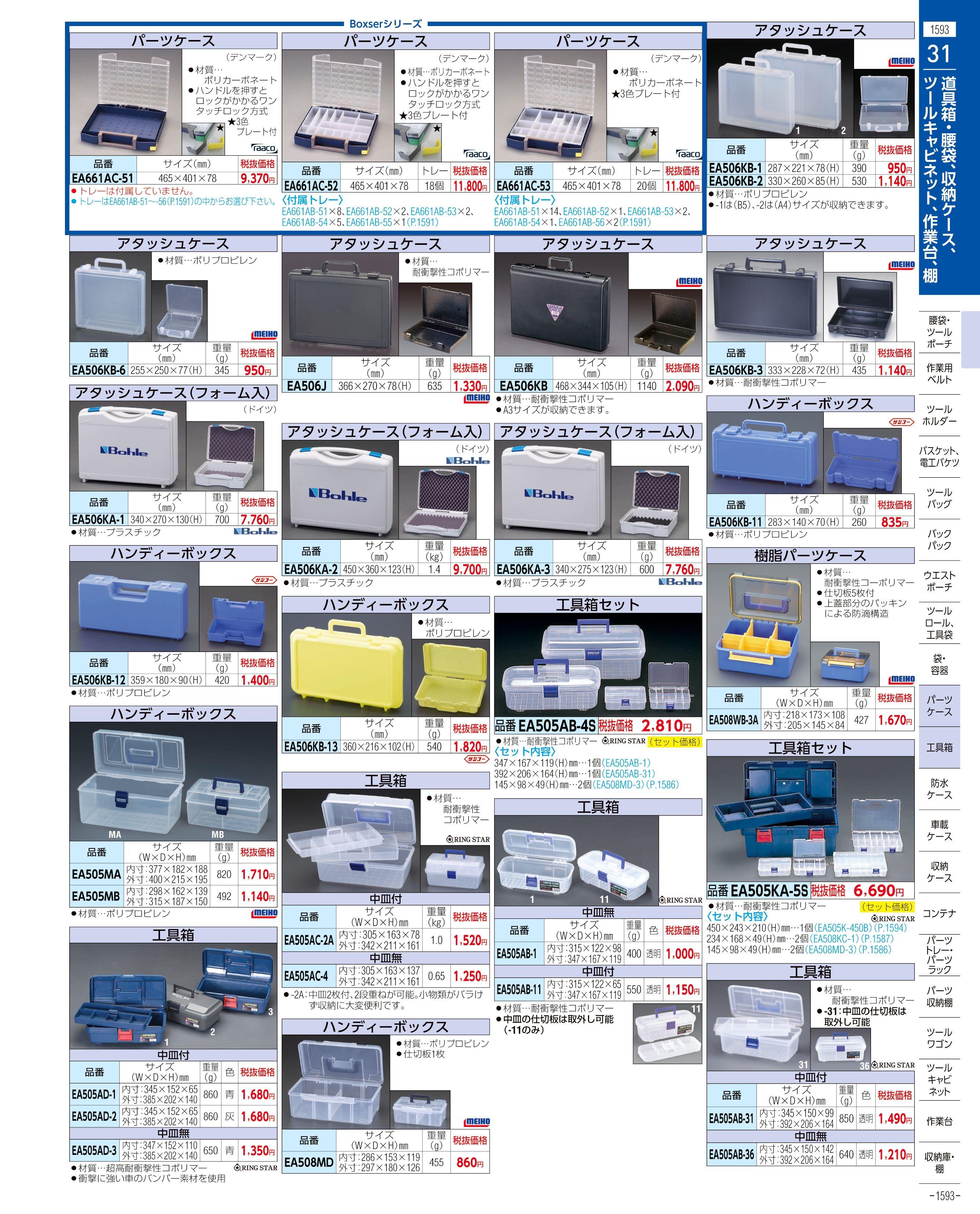 エスコ便利カタログ1593ページ