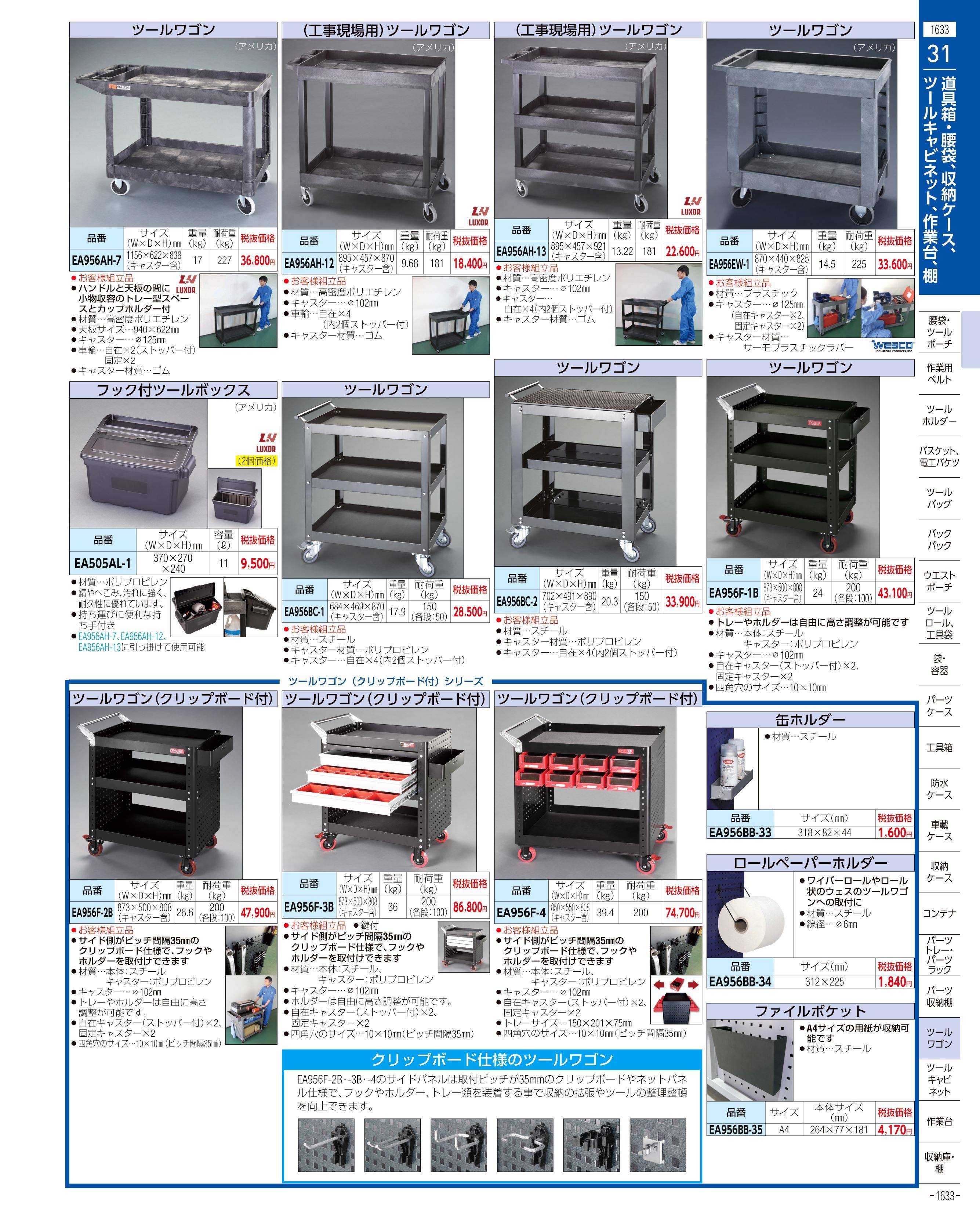 エスコ便利カタログ1633ページ