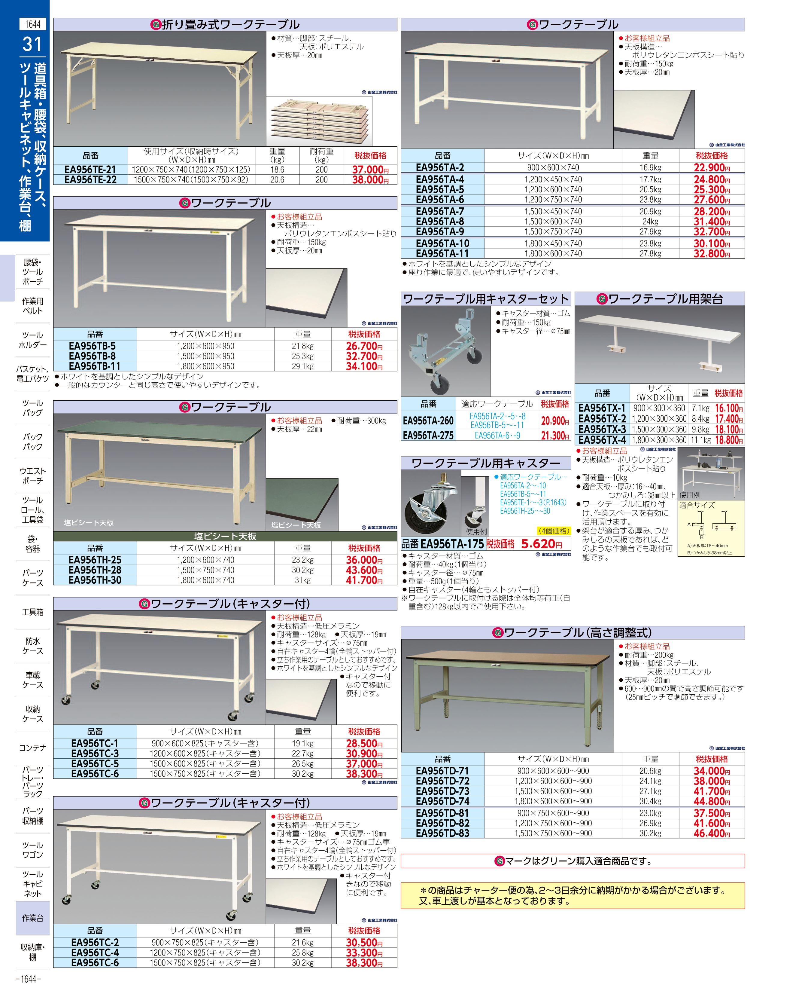 エスコ便利カタログ1644ページ