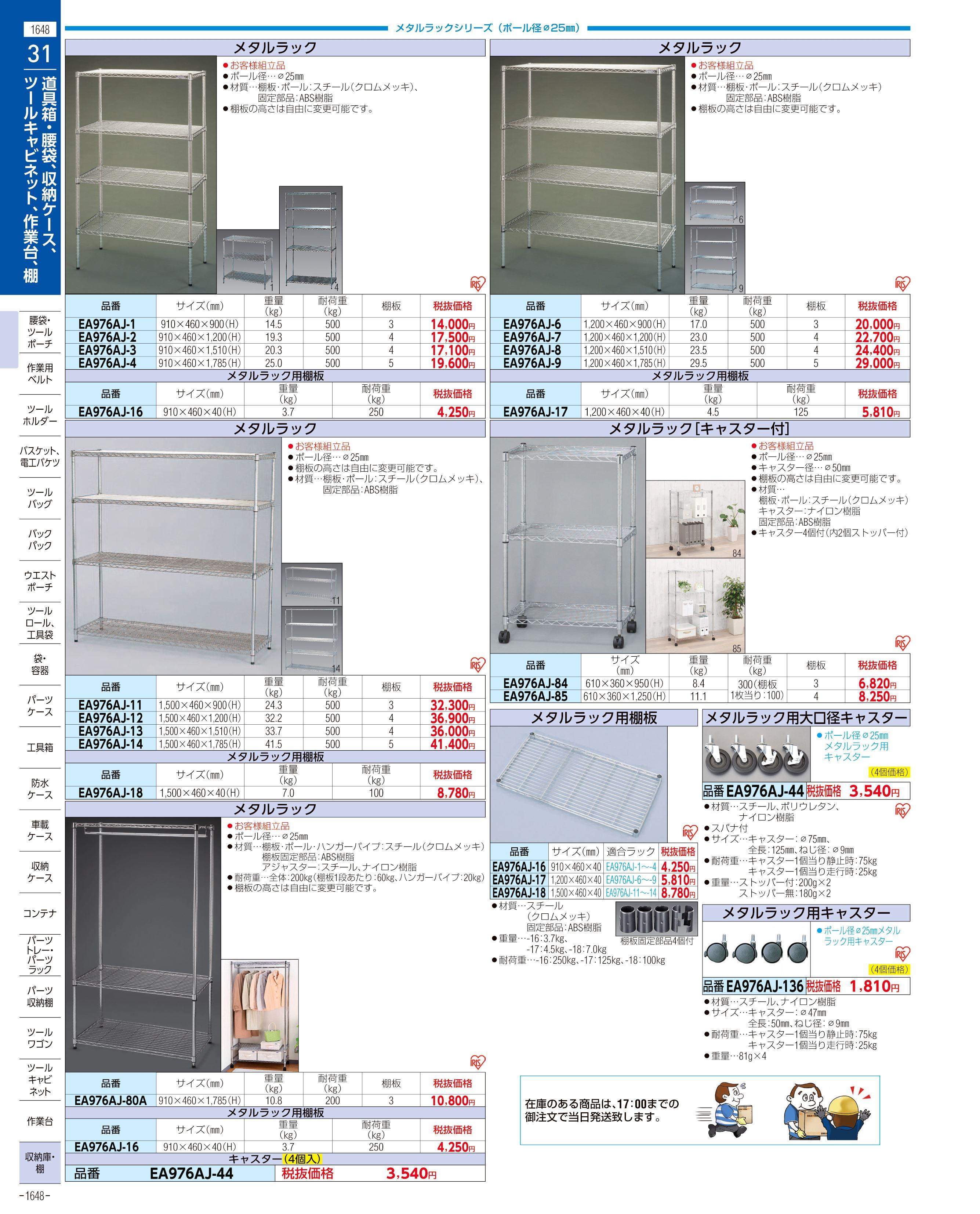 エスコ便利カタログ1648ページ