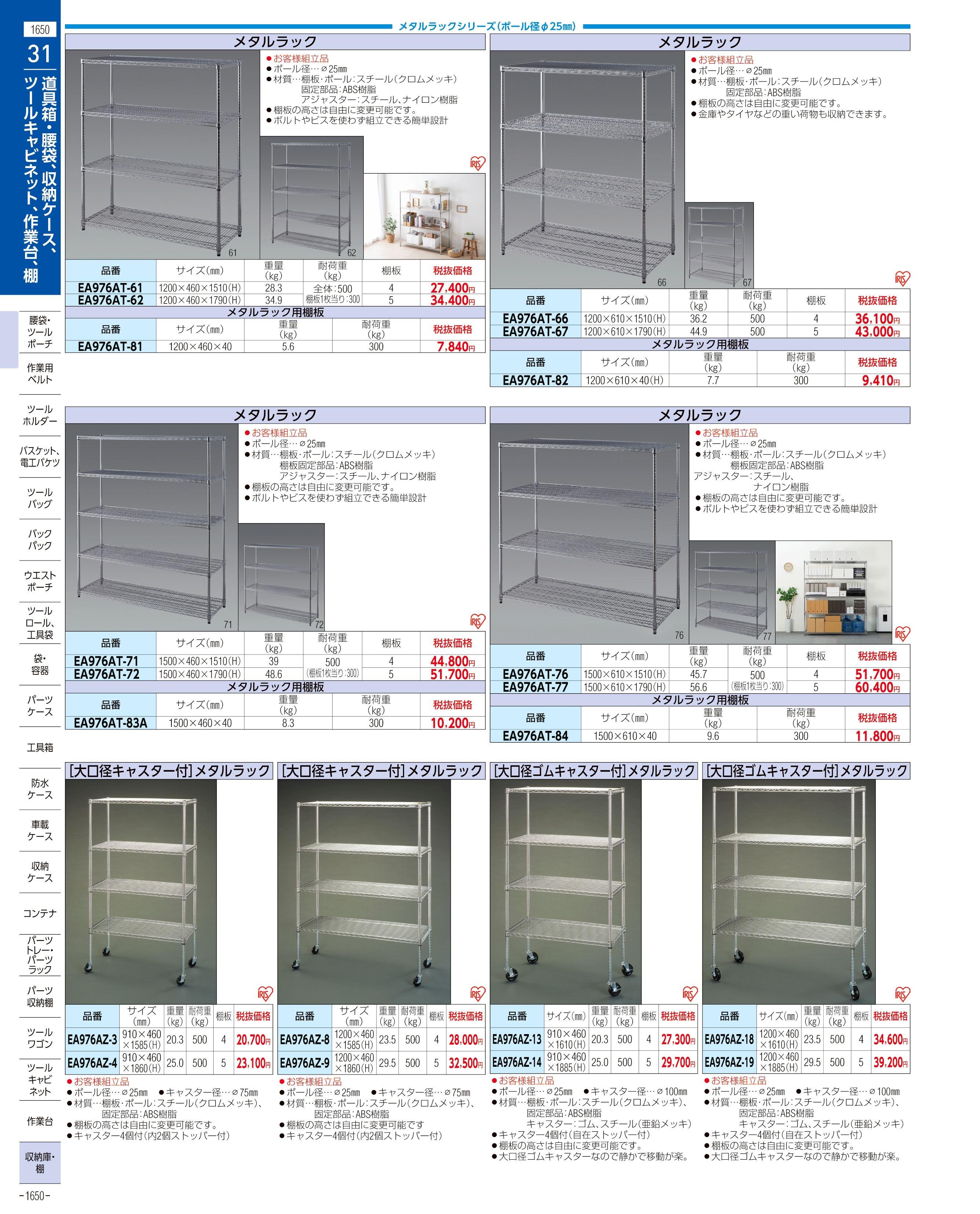 エスコ便利カタログ1650ページ