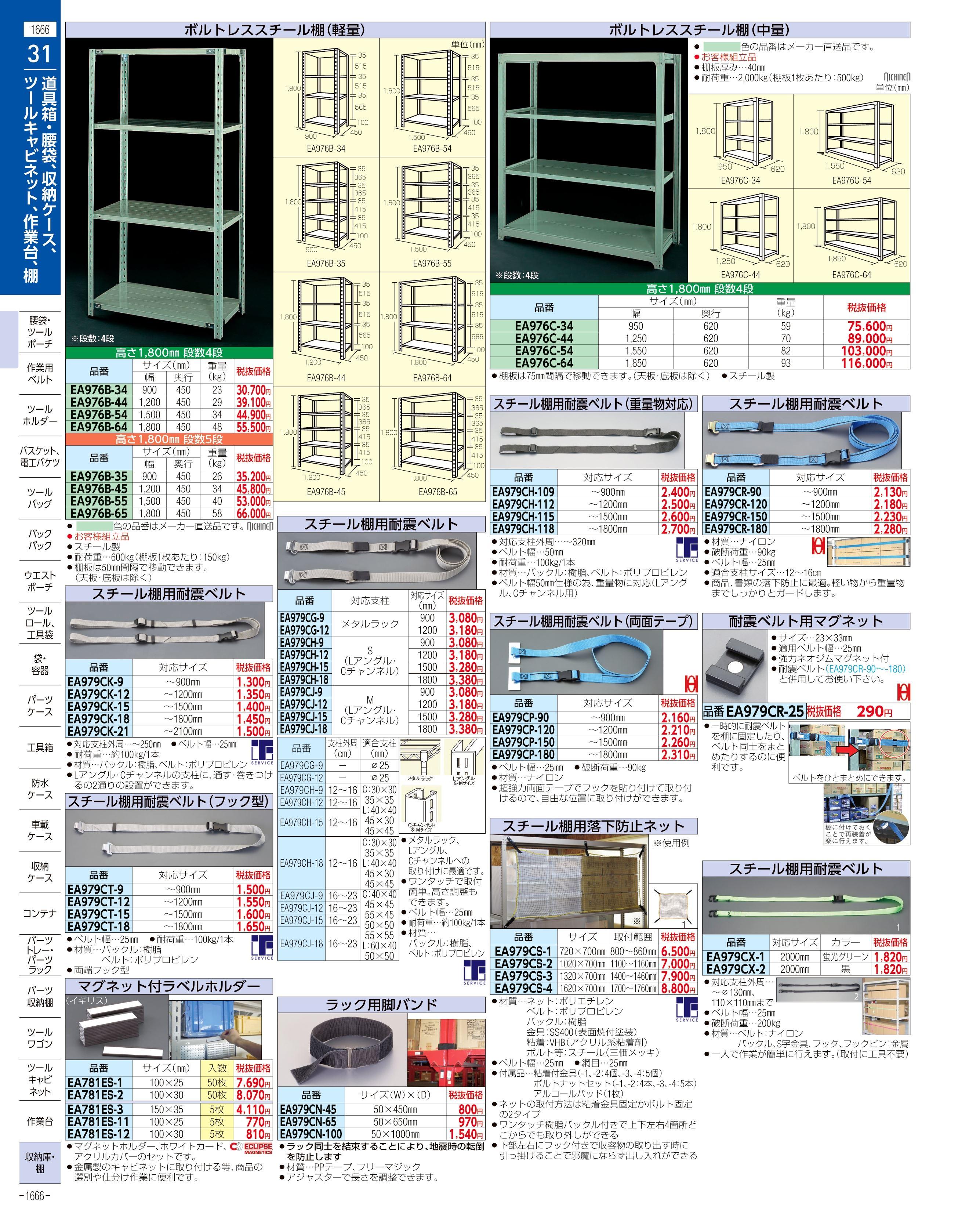 エスコ便利カタログ1666ページ