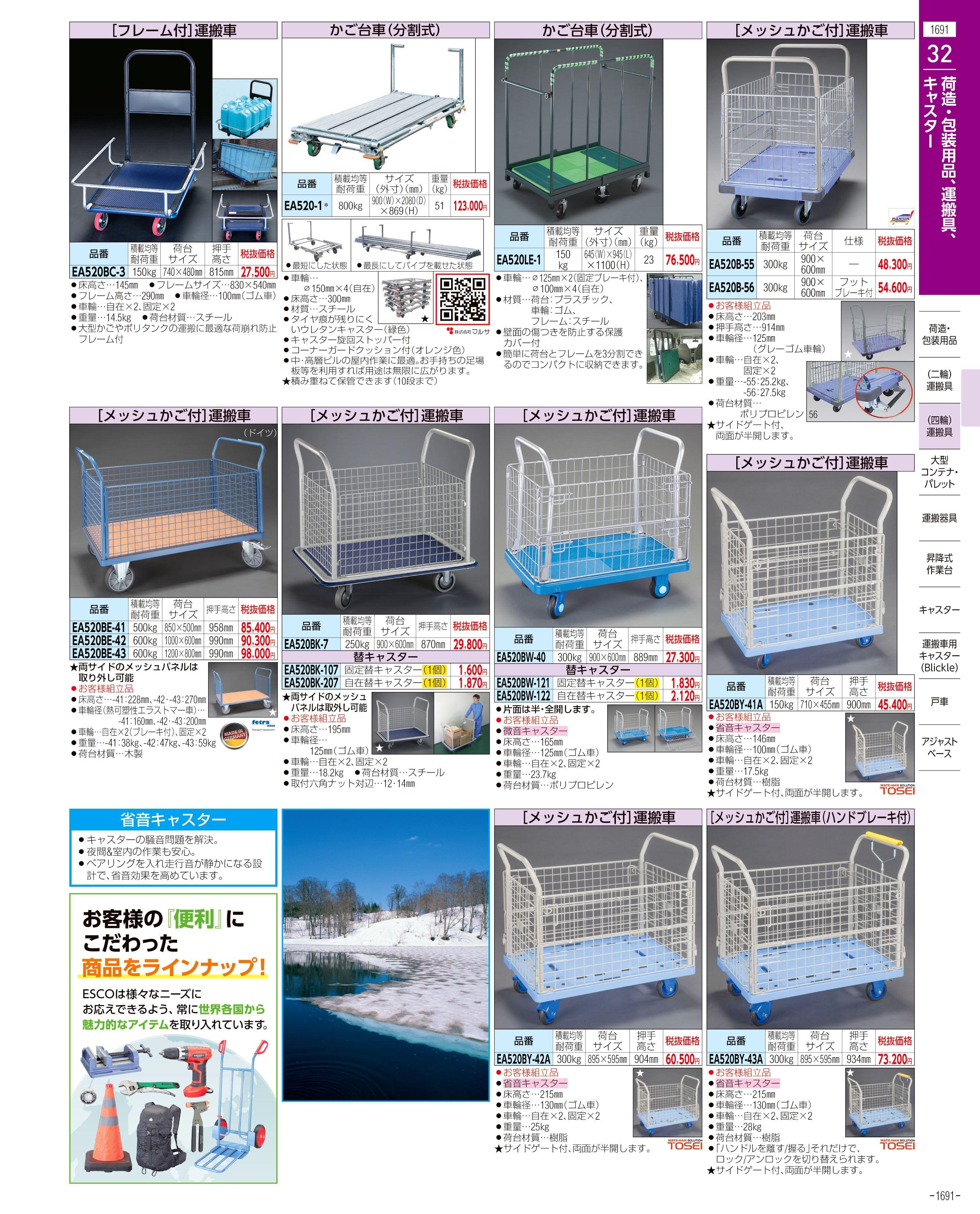 エスコ便利カタログ1691ページ
