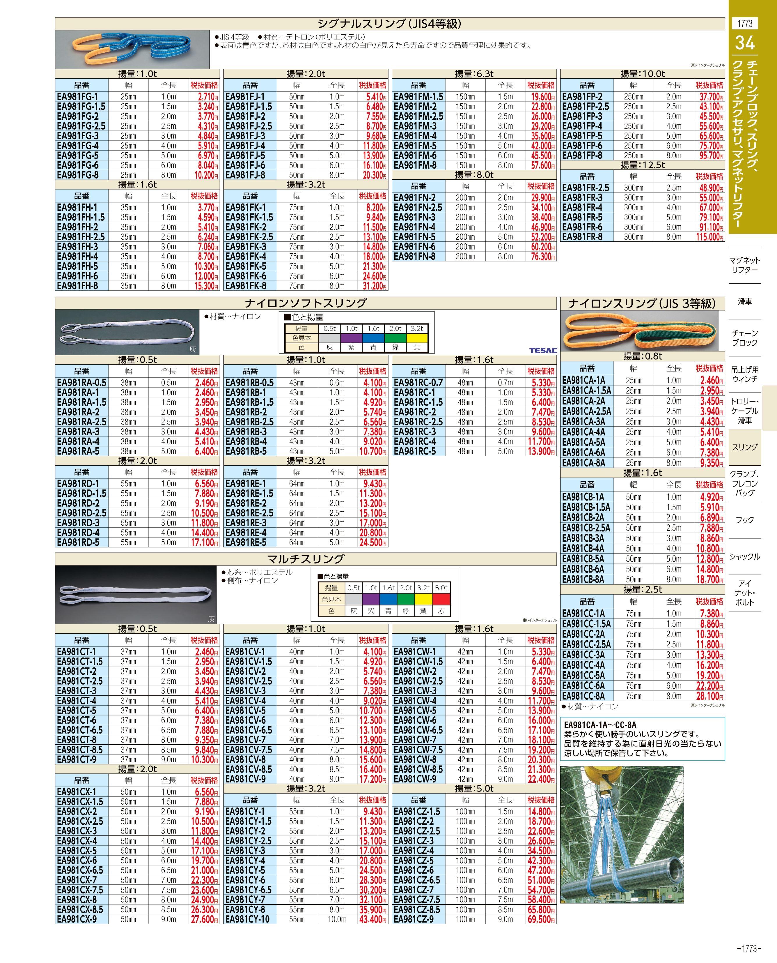 エスコ便利カタログ1773ページ