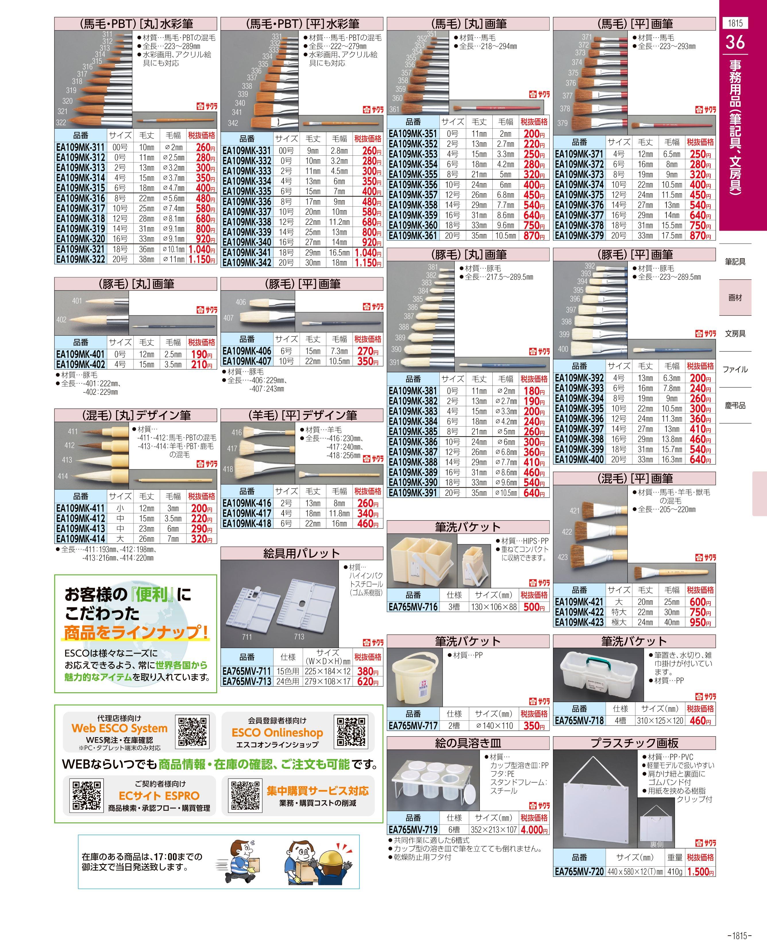 エスコ便利カタログ1815ページ