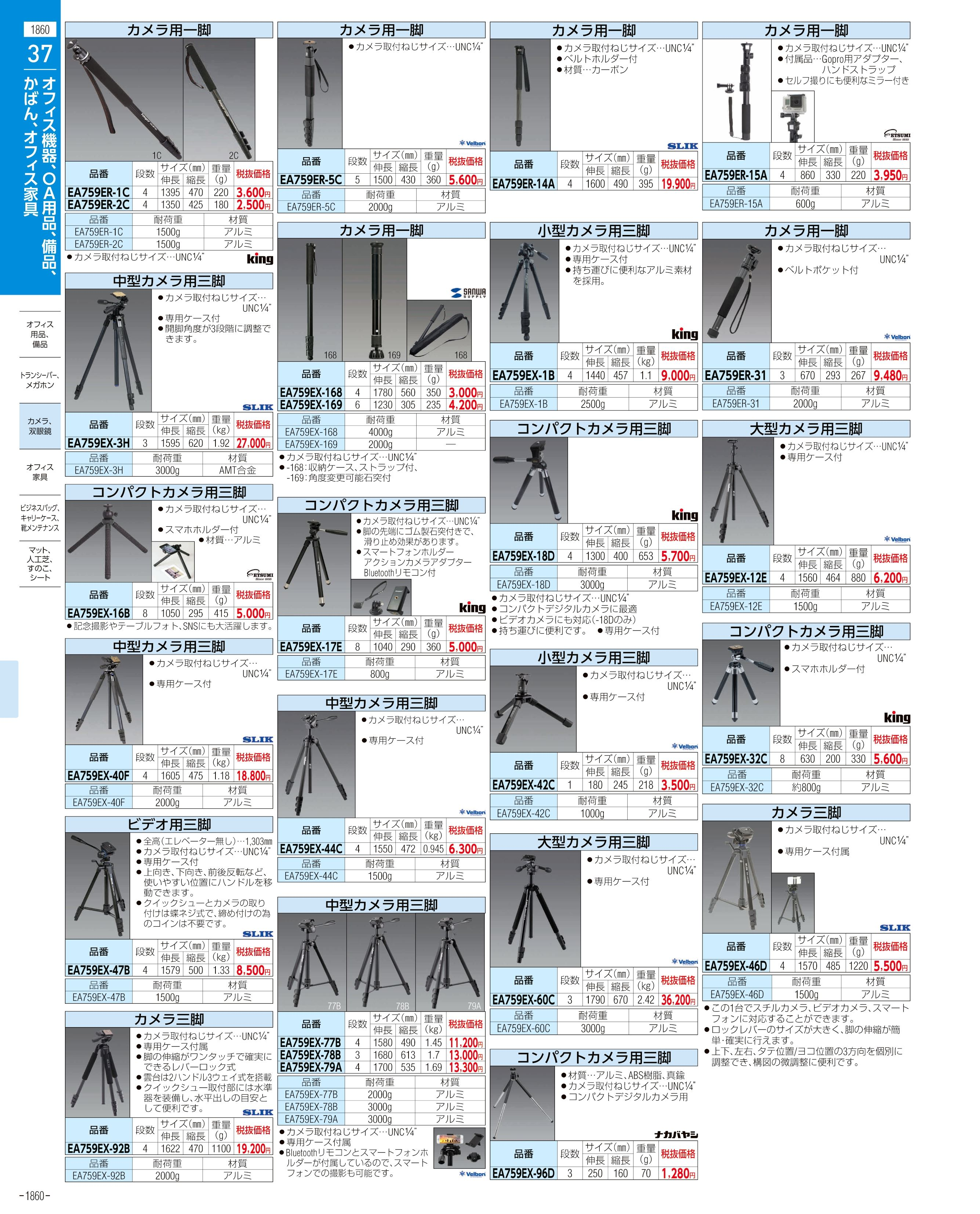 エスコ便利カタログ1860ページ