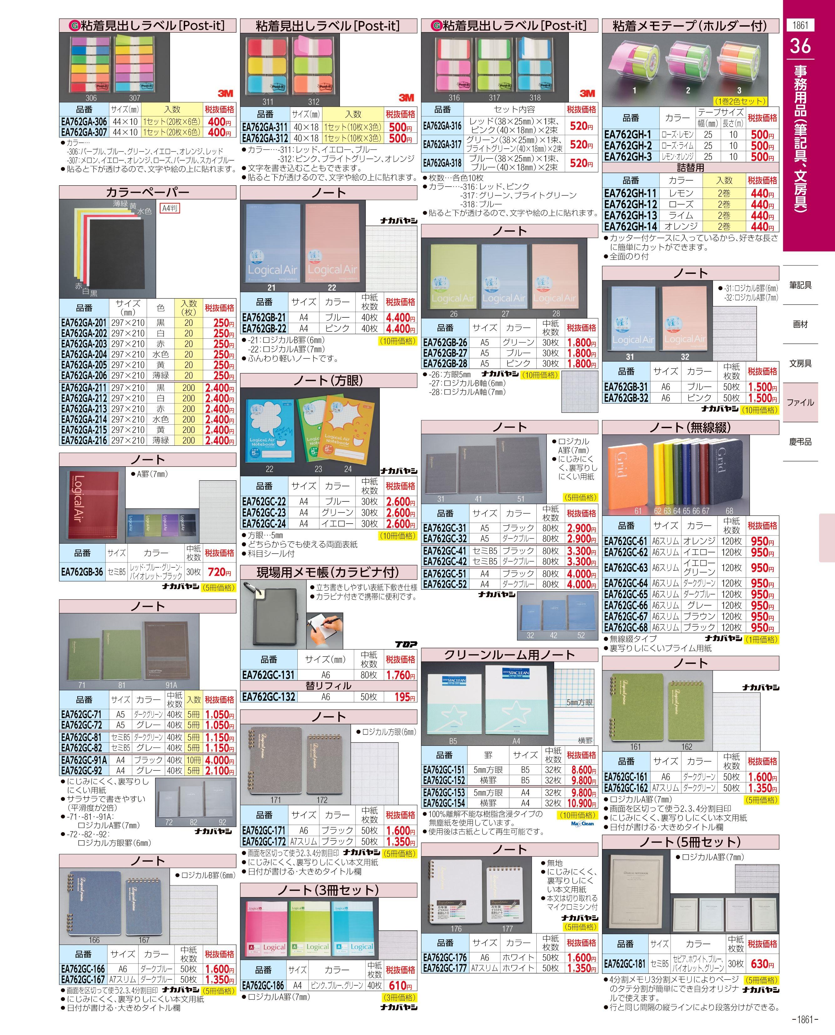 エスコ便利カタログ1861ページ