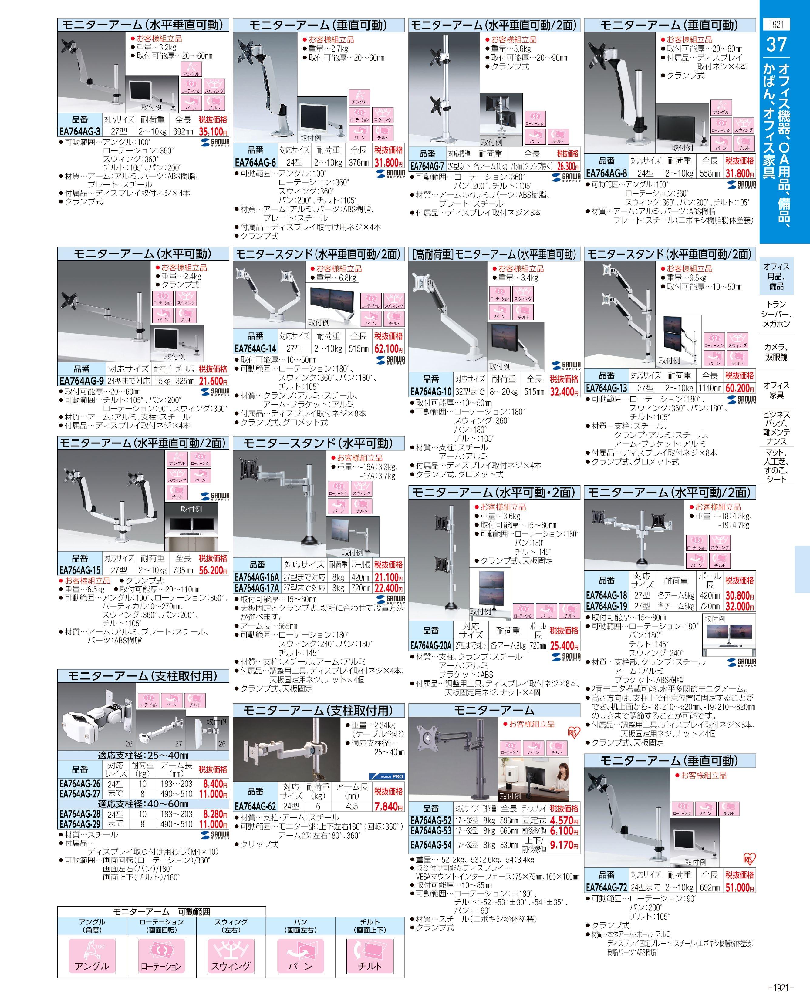 エスコ便利カタログ1921ページ