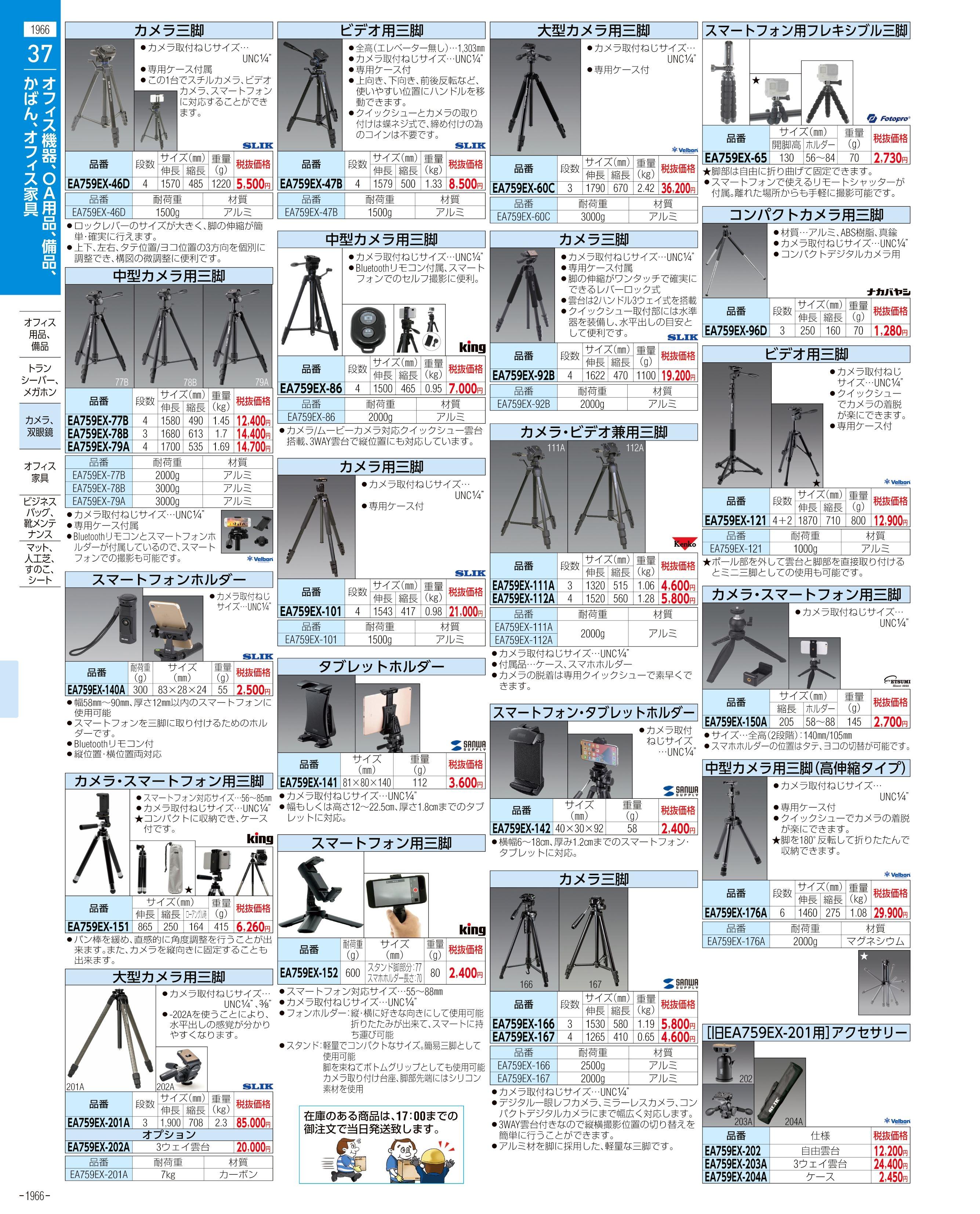 エスコ便利カタログ1966ページ