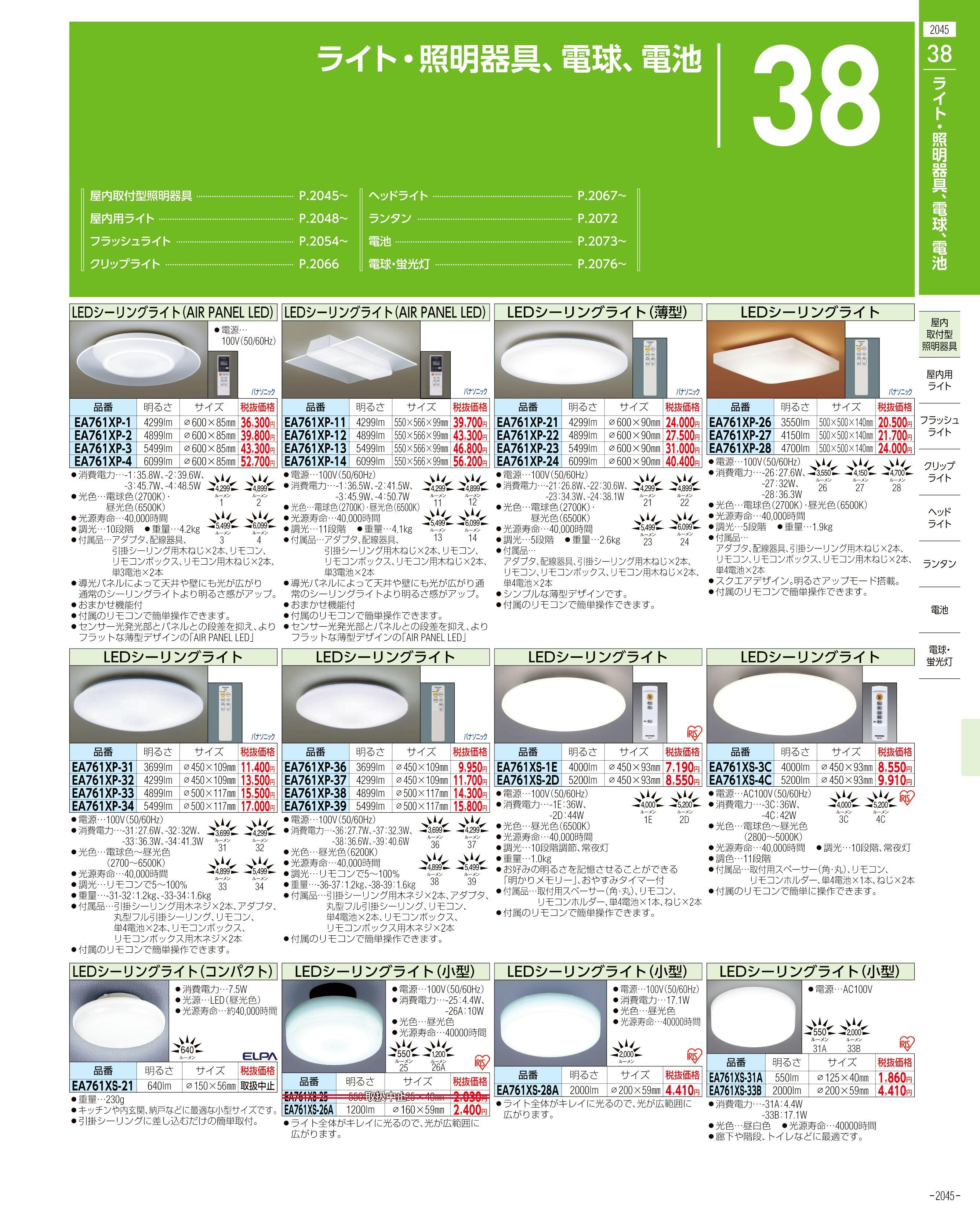 エスコ便利カタログ2045ページ
