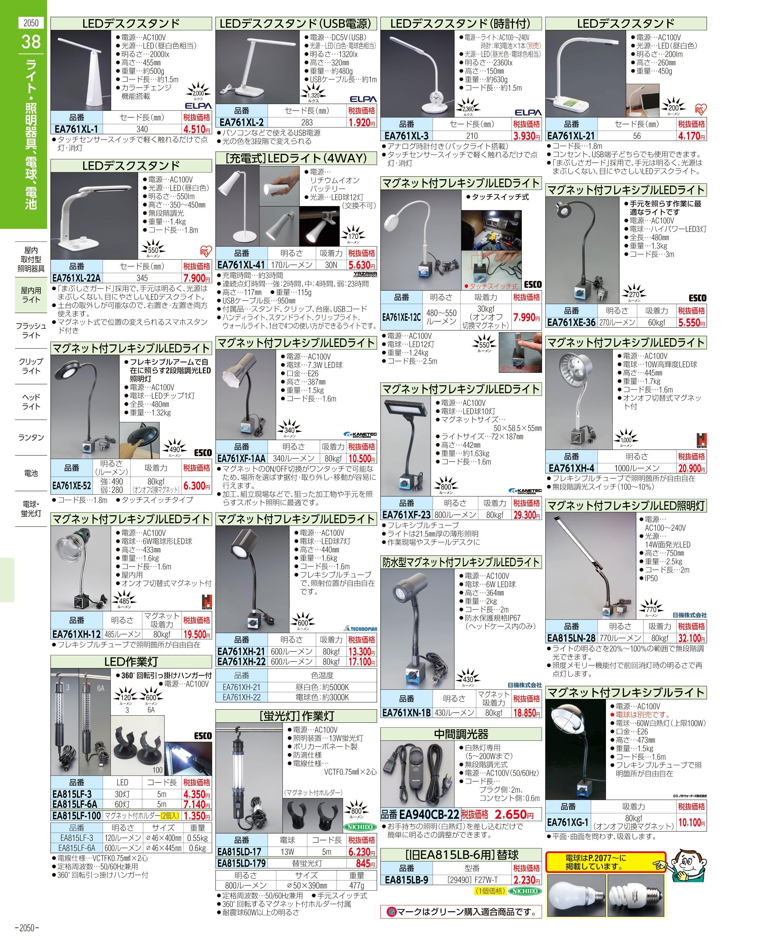 エスコ便利カタログ2050ページ