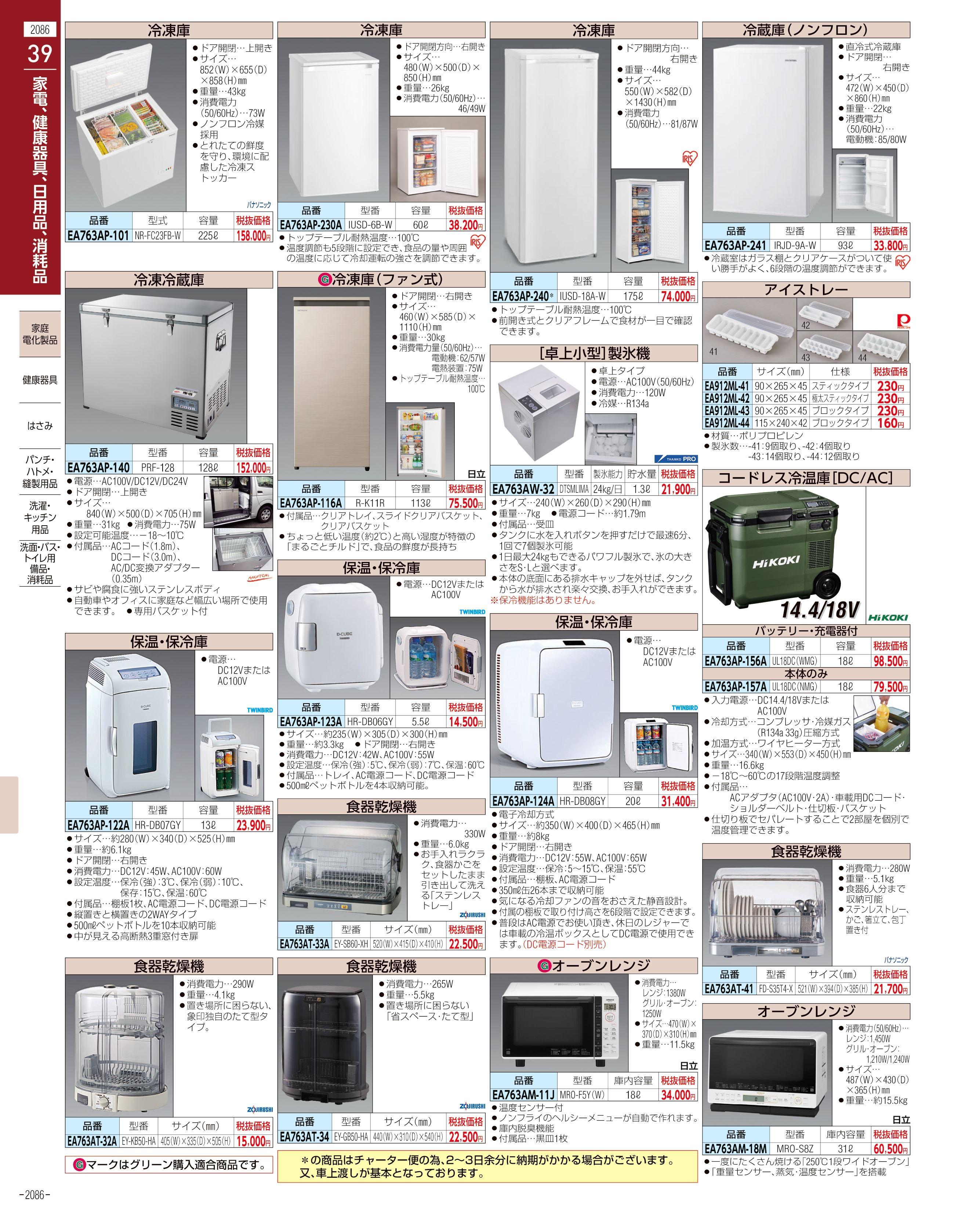 エスコ便利カタログ2086ページ