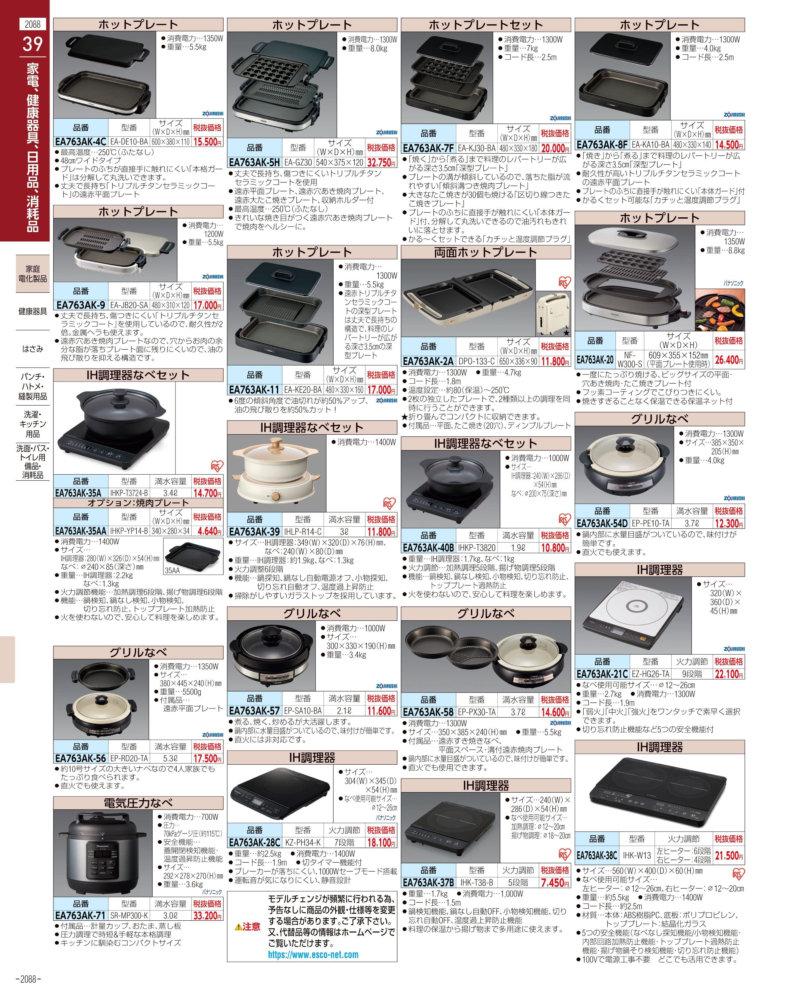 エスコ便利カタログ2088ページ