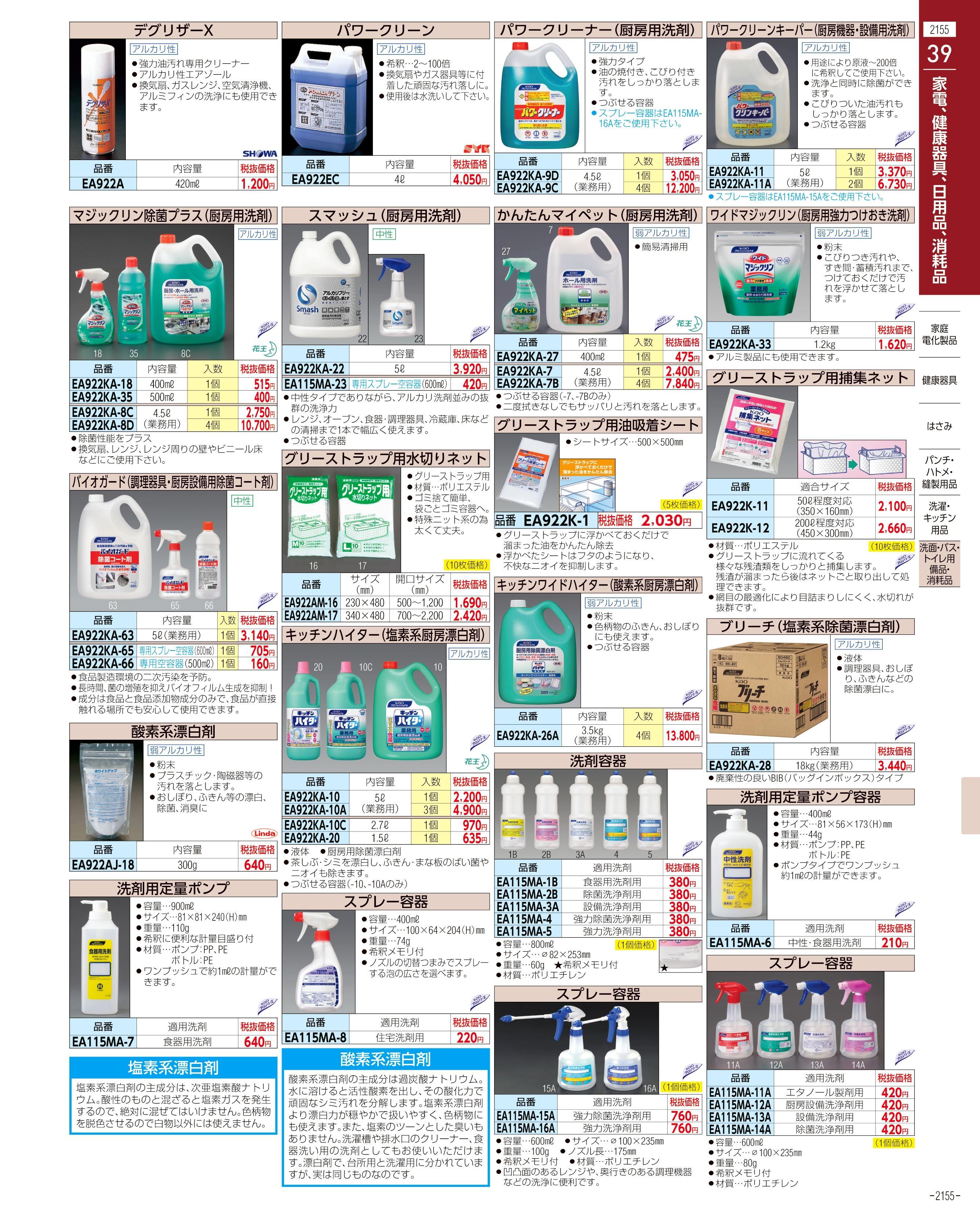 エスコ便利カタログ2155ページ